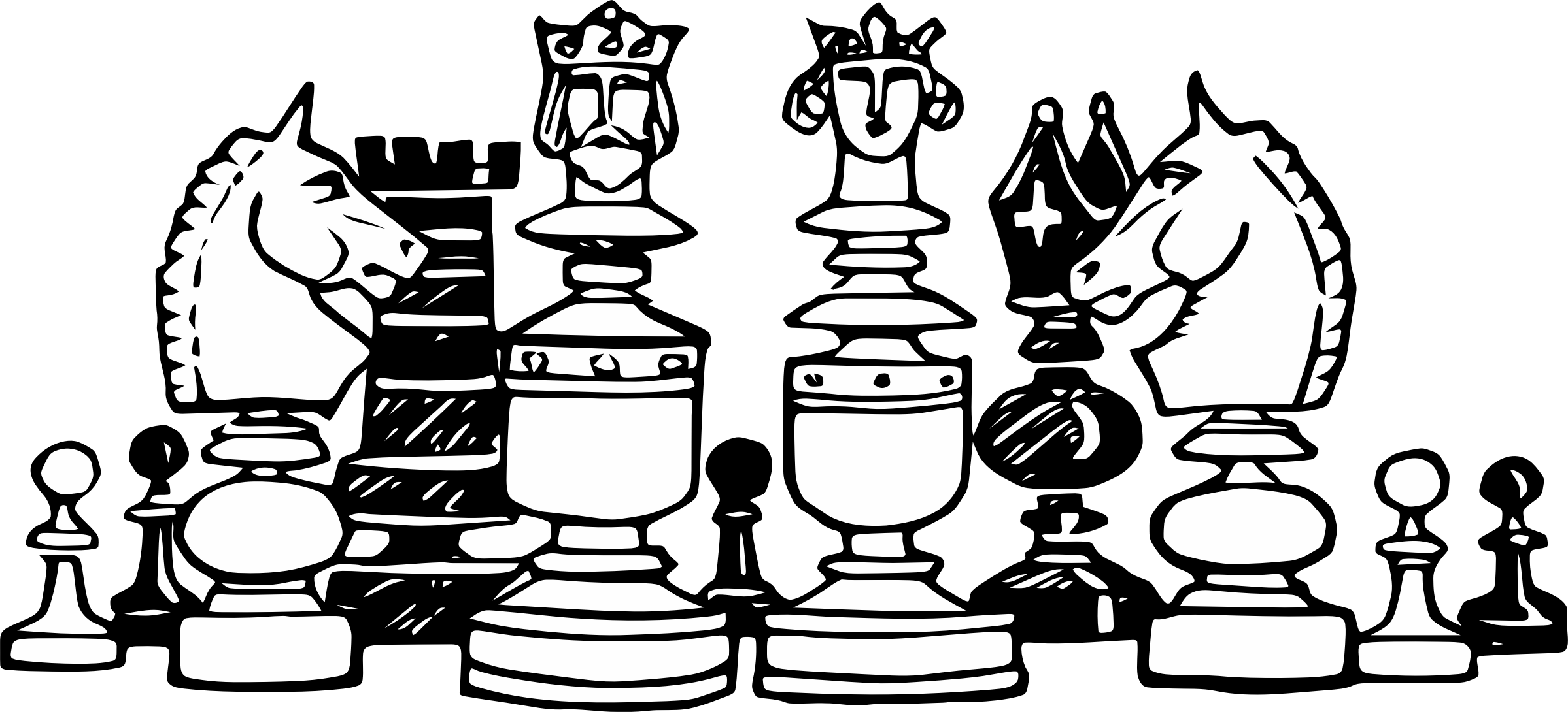 Chess Pieces Illustration by GDJ