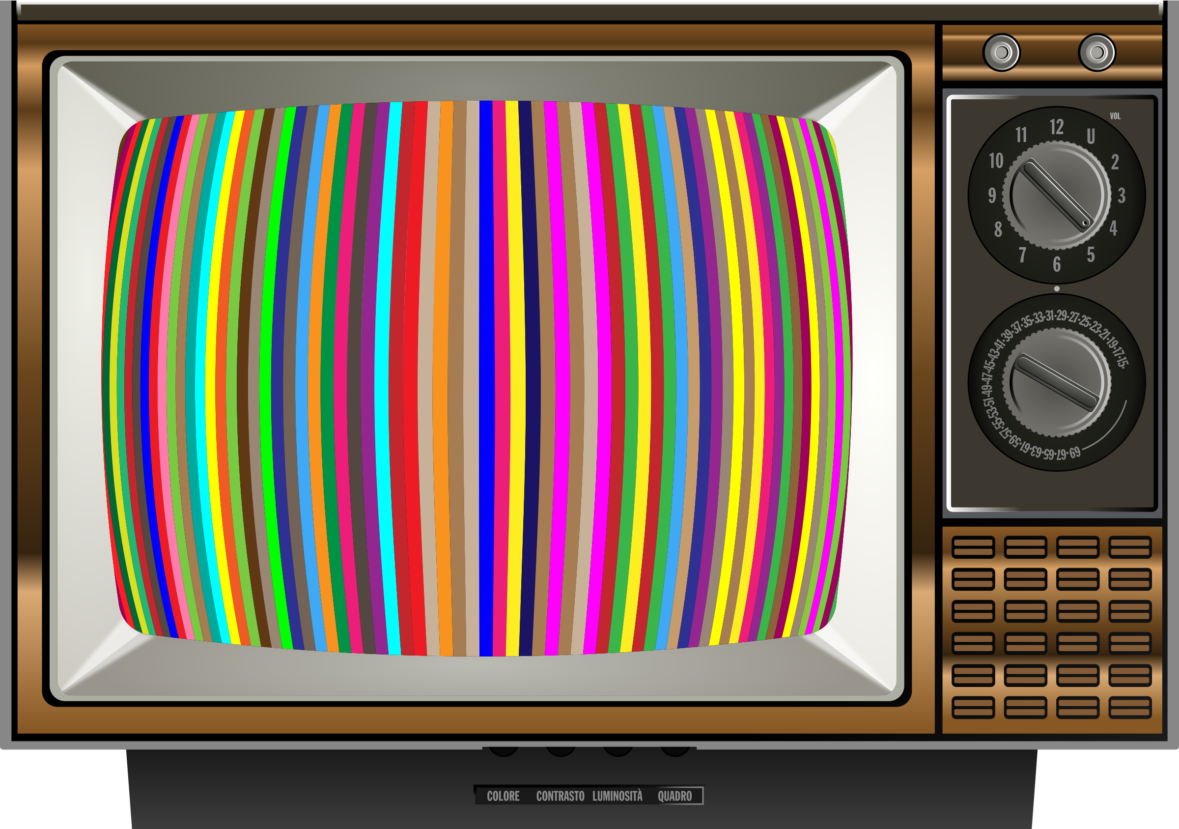 Striped Test Pattern Television by GDJ