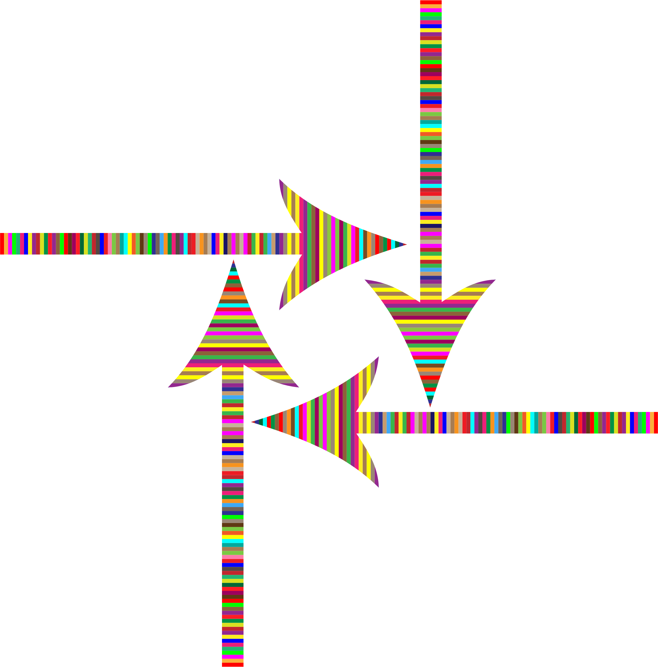 Colorful Striped Arrows by GDJ