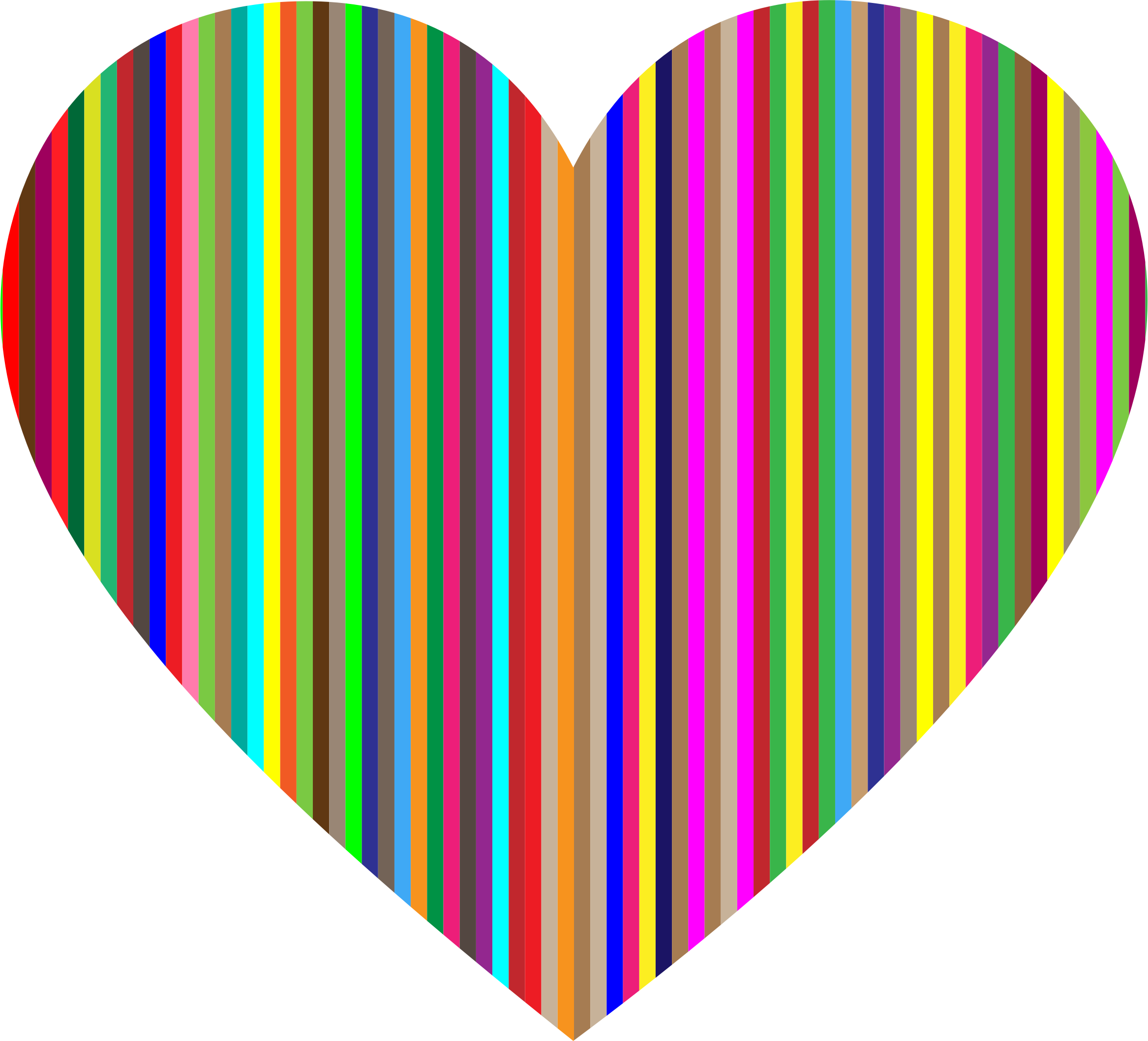 Colorful Vertical Striped Heart by GDJ
