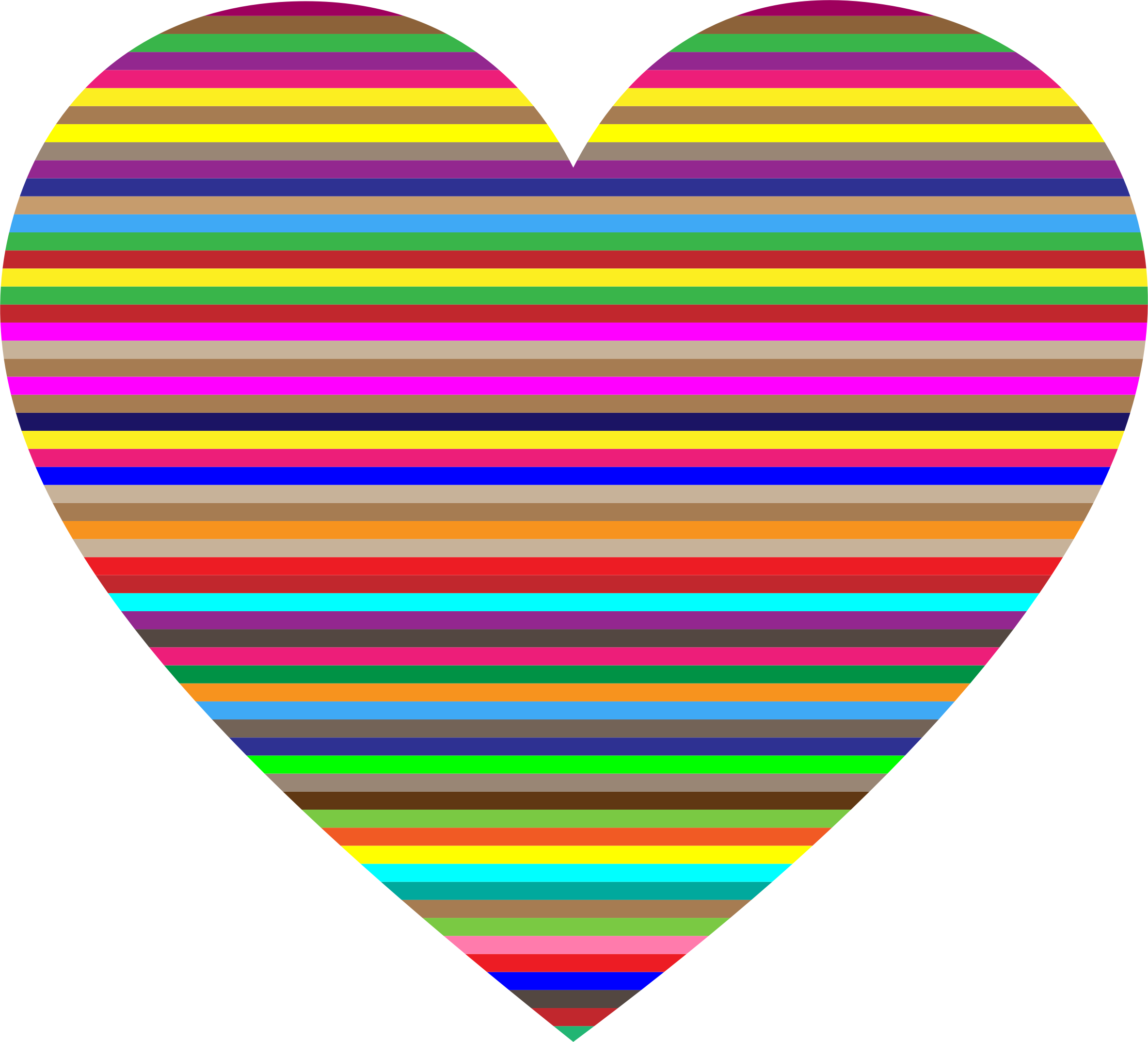 Colorful Horizontal Striped Heart by GDJ