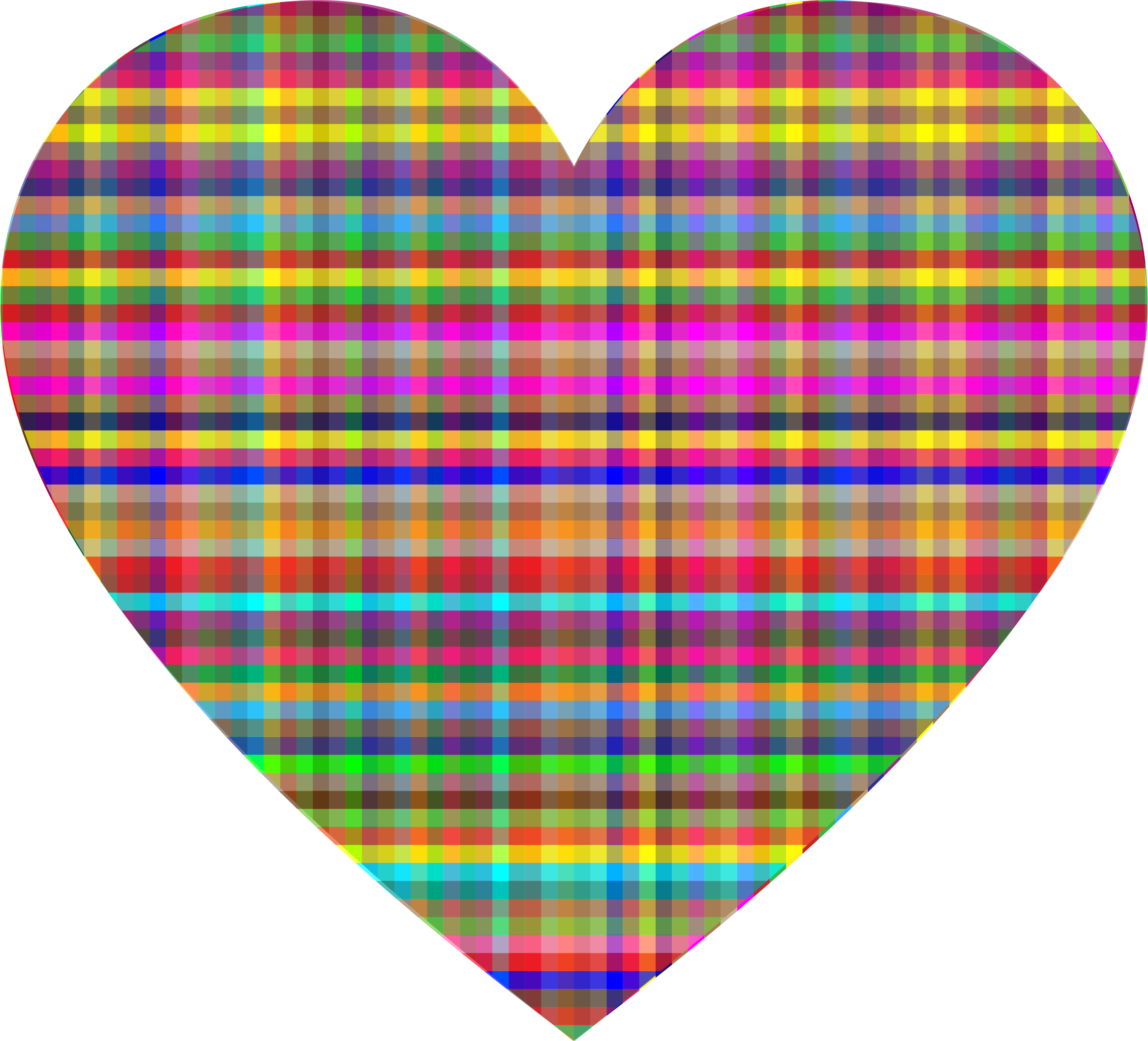 Colorful Checkered Heart by GDJ