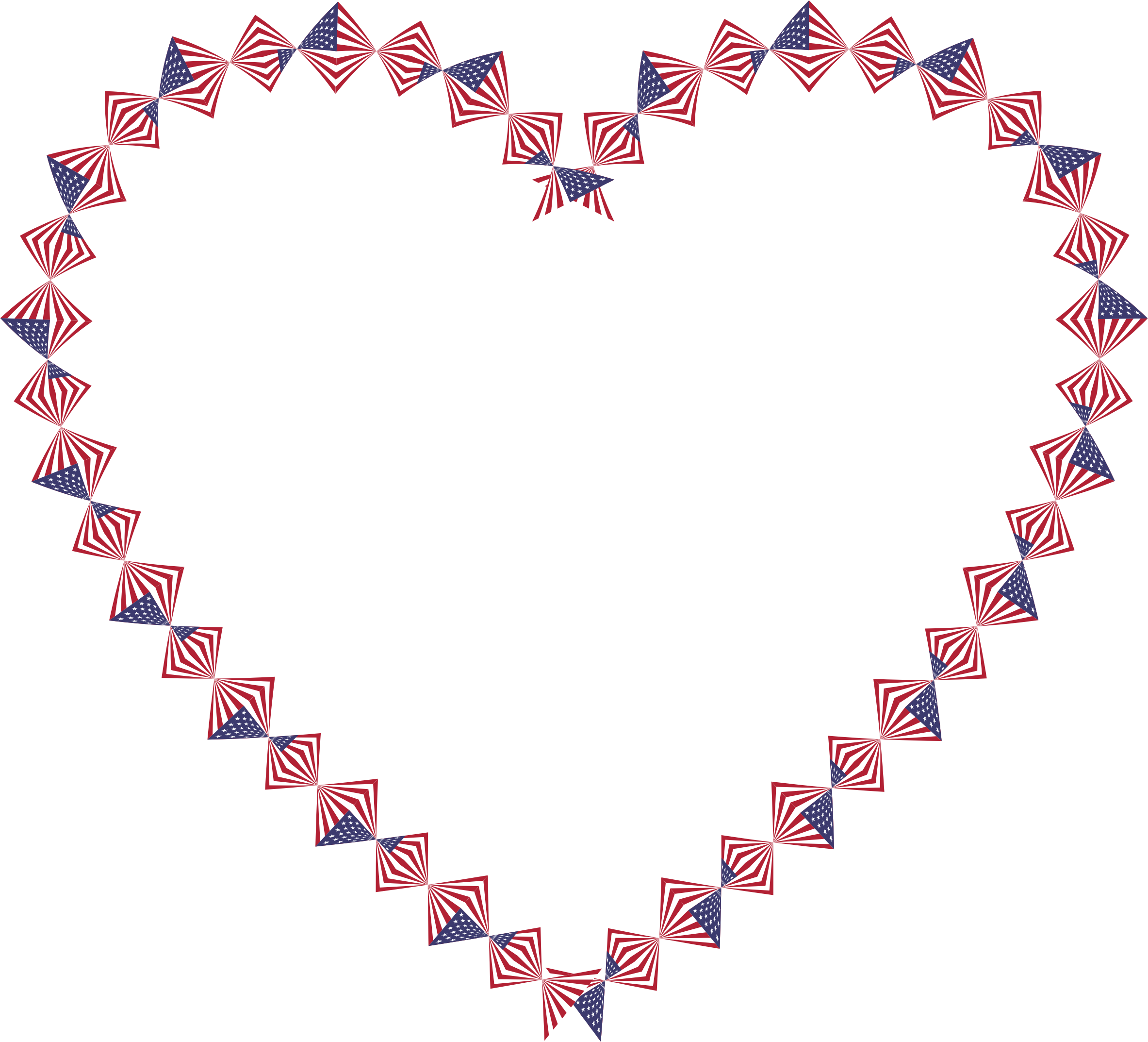 American Flag Twist Heart by GDJ