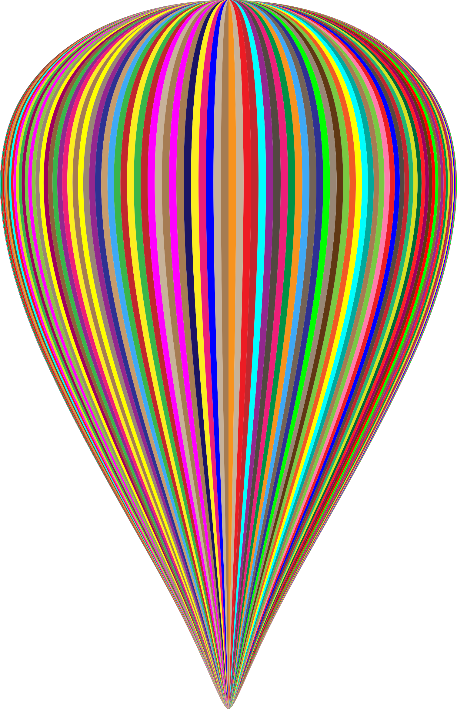 Clipart - Colorful Striped Balloon