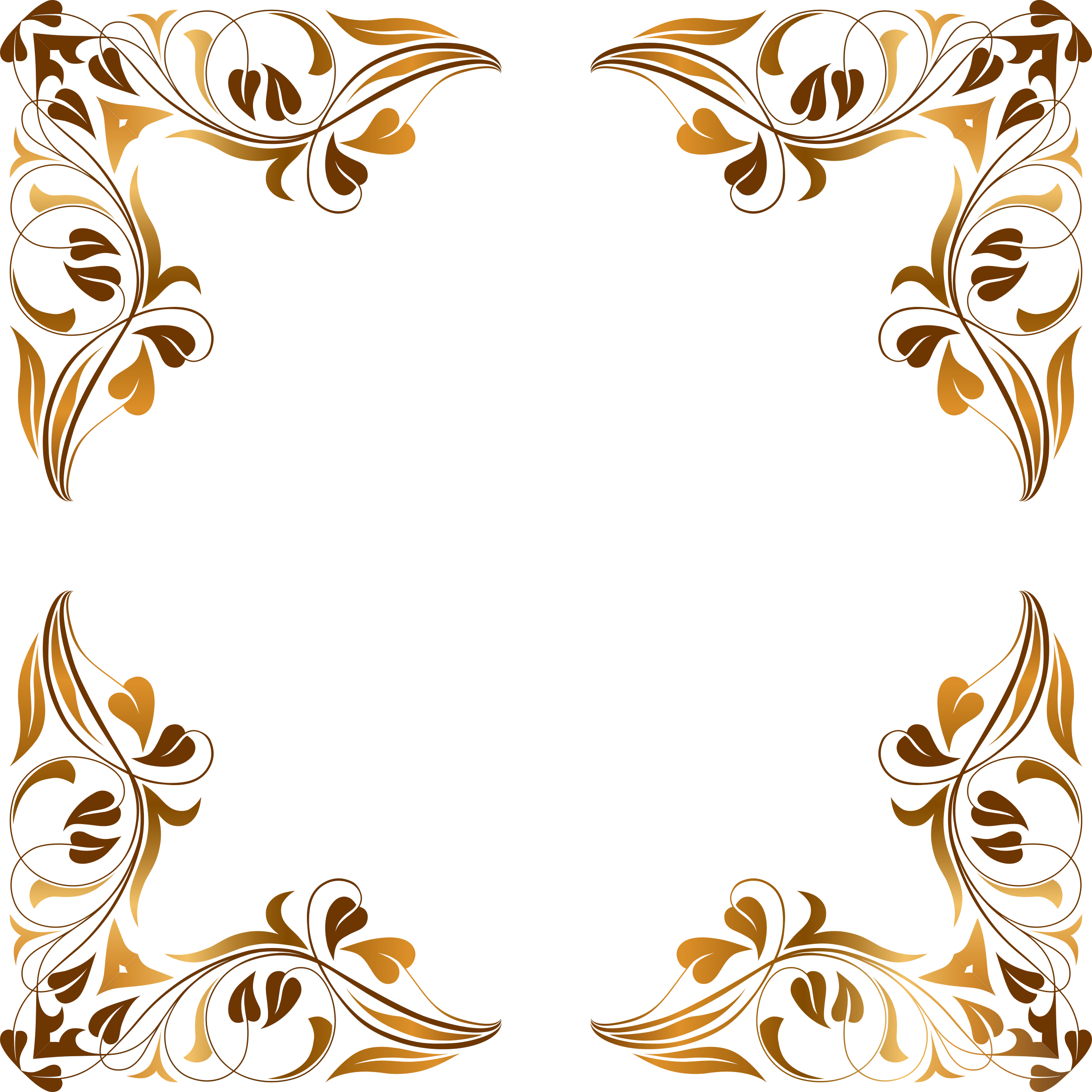 Floral Flourish Frame 5 by GDJ