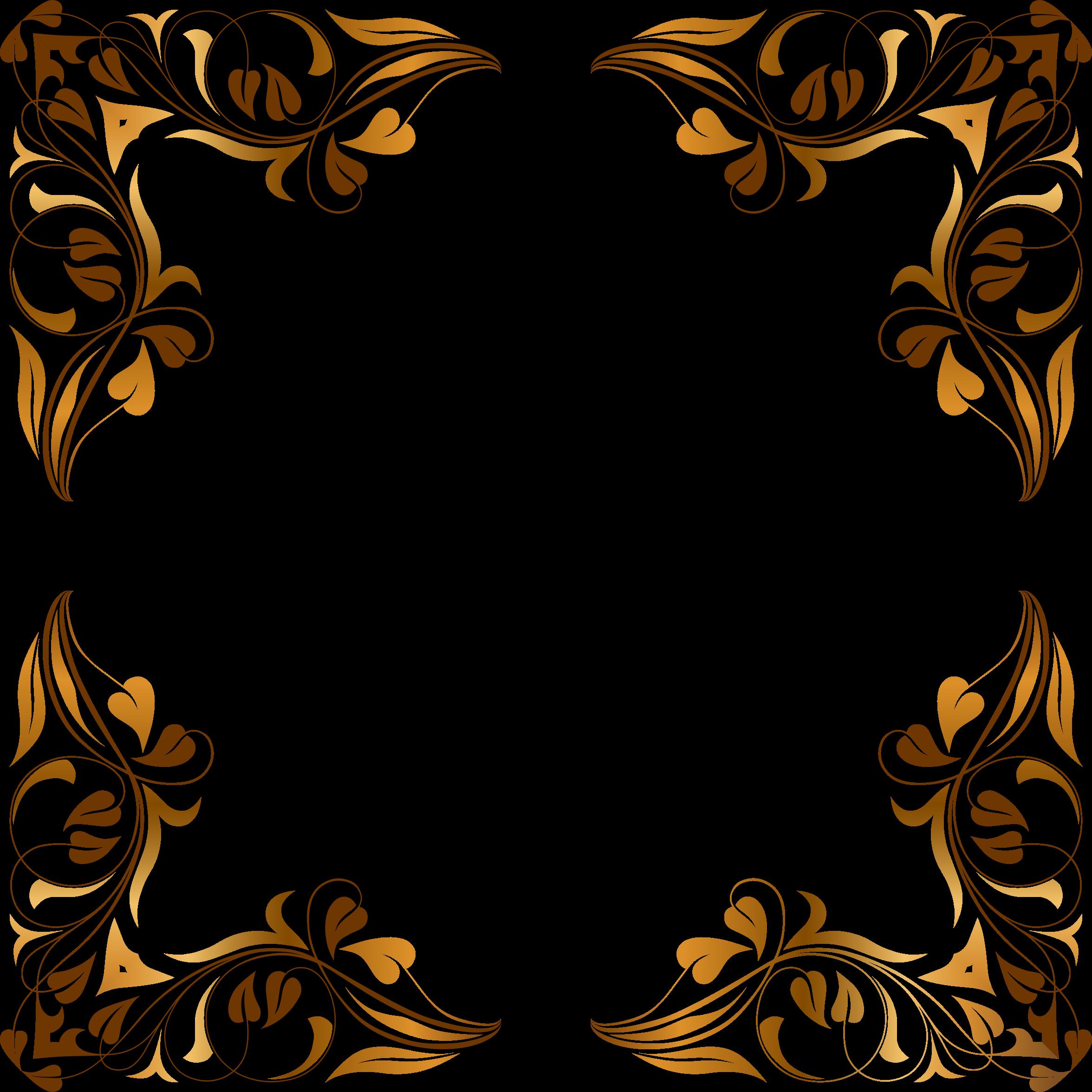 Clipart - Floral Flourish Frame 5