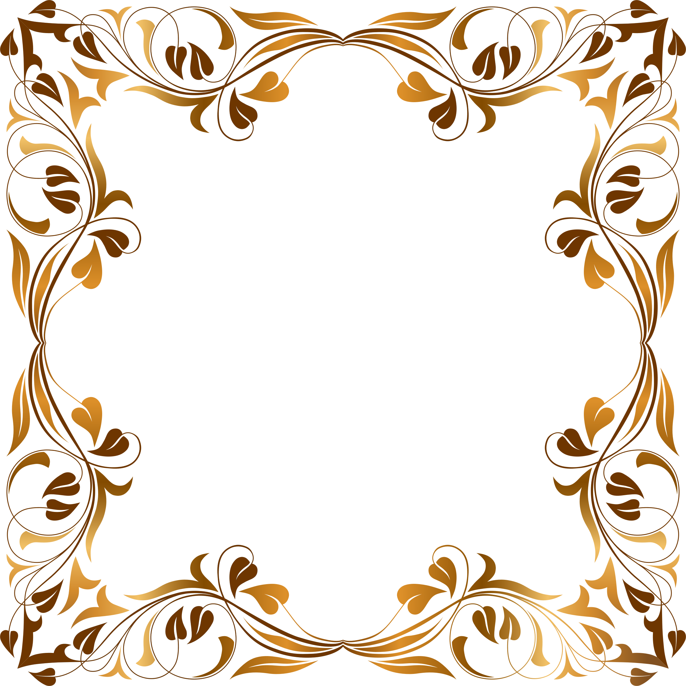 Floral Flourish Frame 6 by GDJ