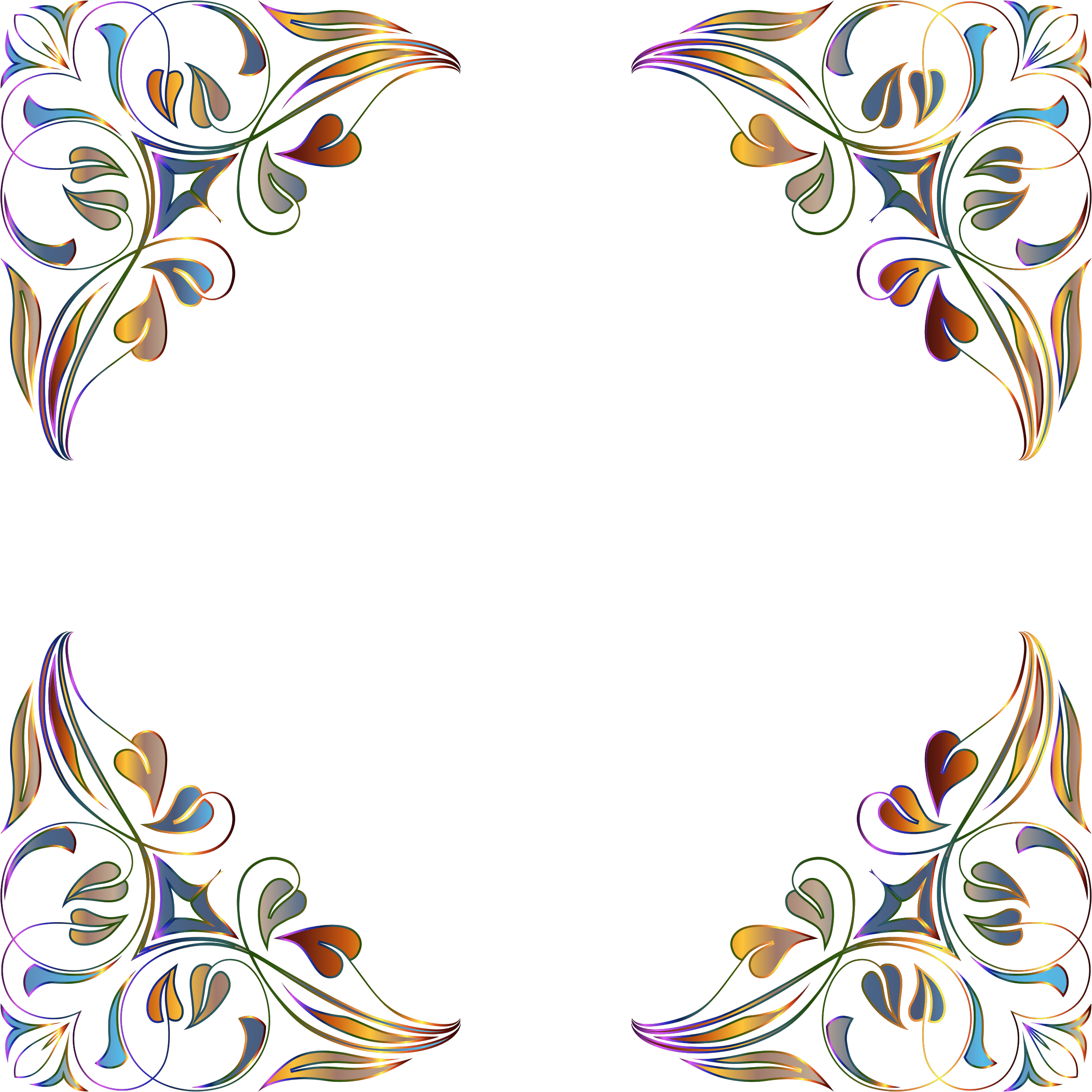 Floral Flourish Frame 7 Variation 2 by GDJ