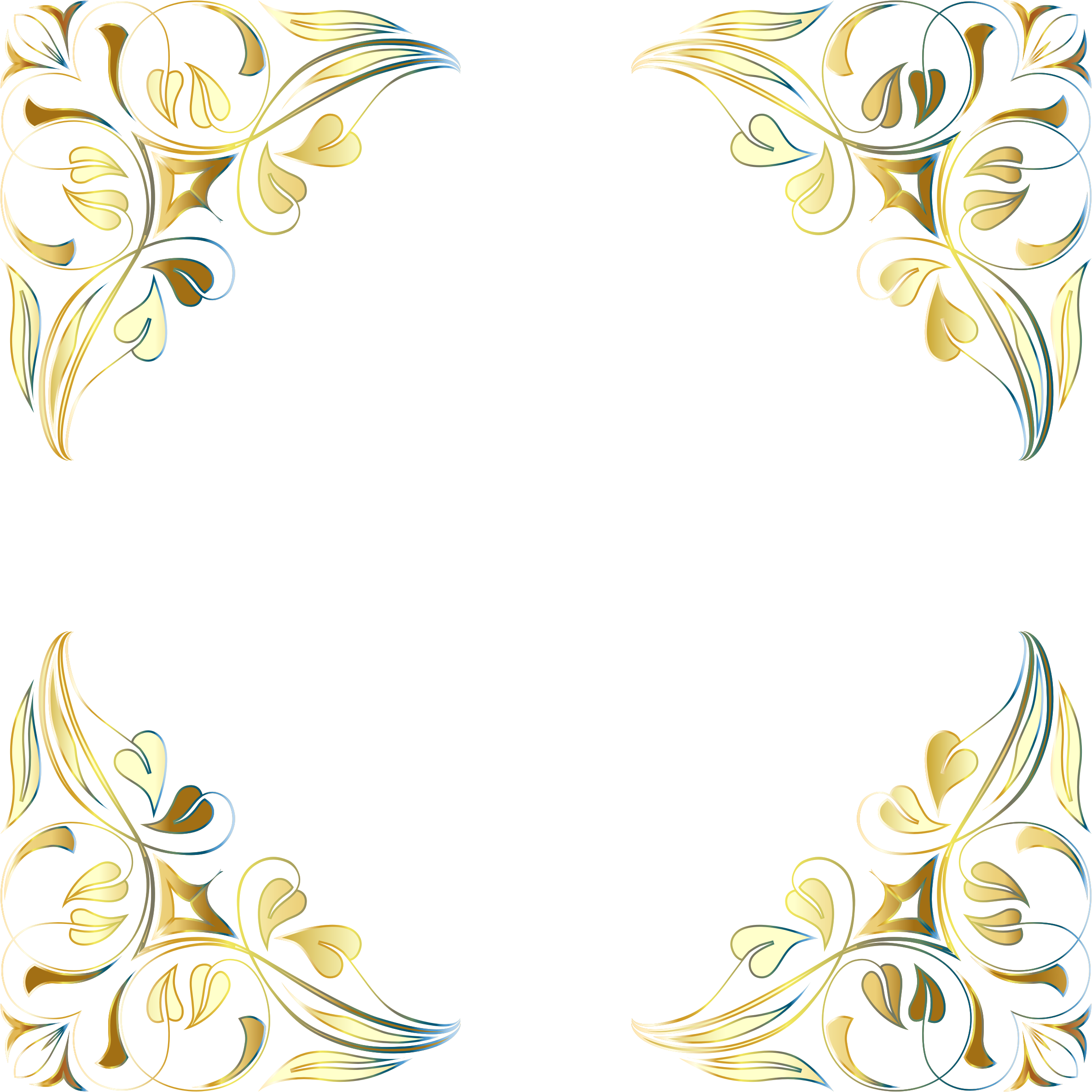 Floral Flourish Frame 7 Variation 3 by GDJ