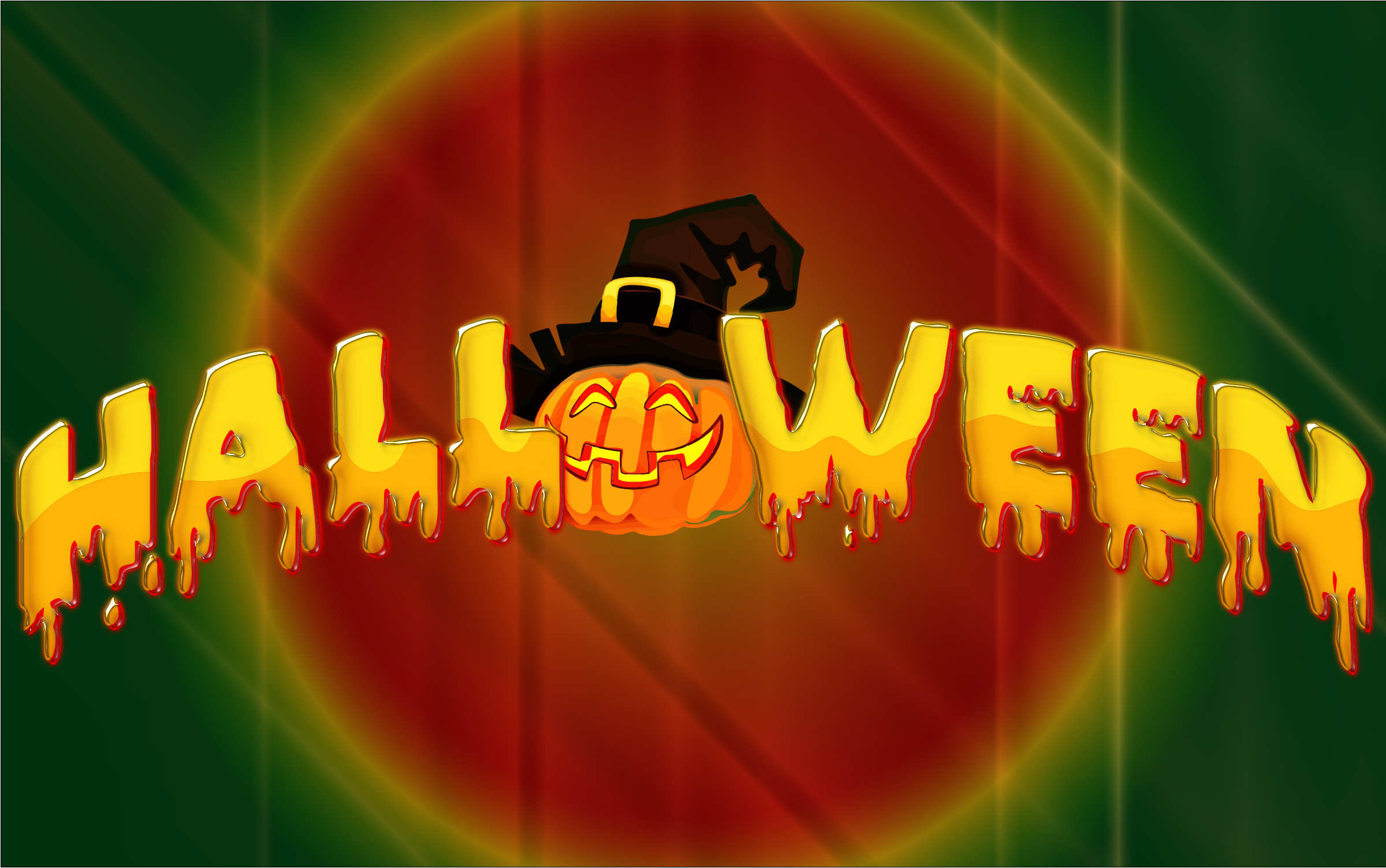 Halloween Typography With Background by GDJ