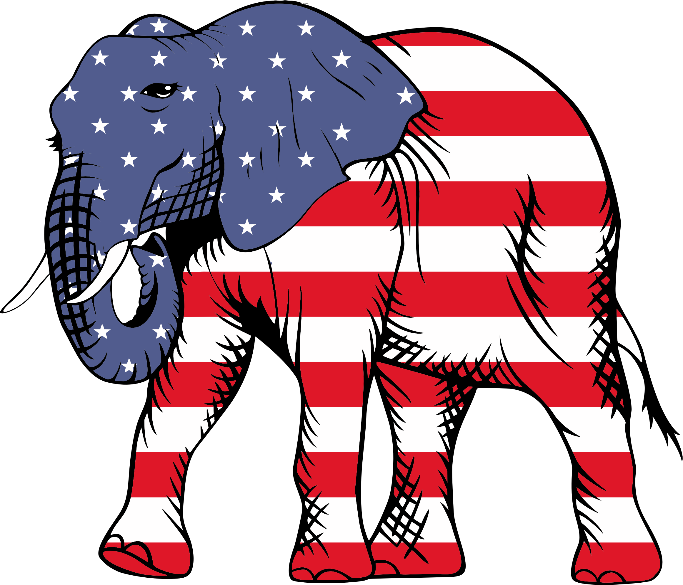 Clipart - Patriotic Elephant