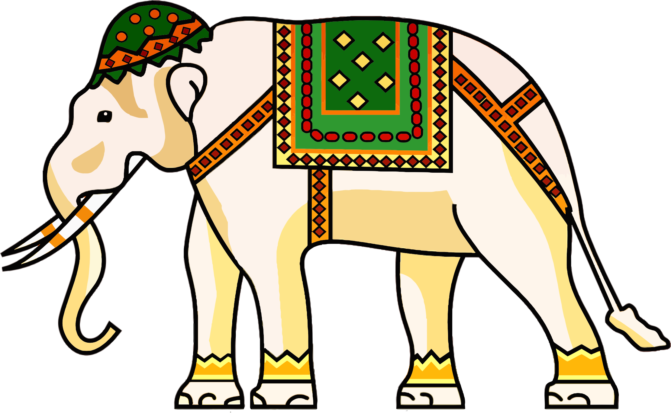 Decorated Ornamental Elephant by GDJ