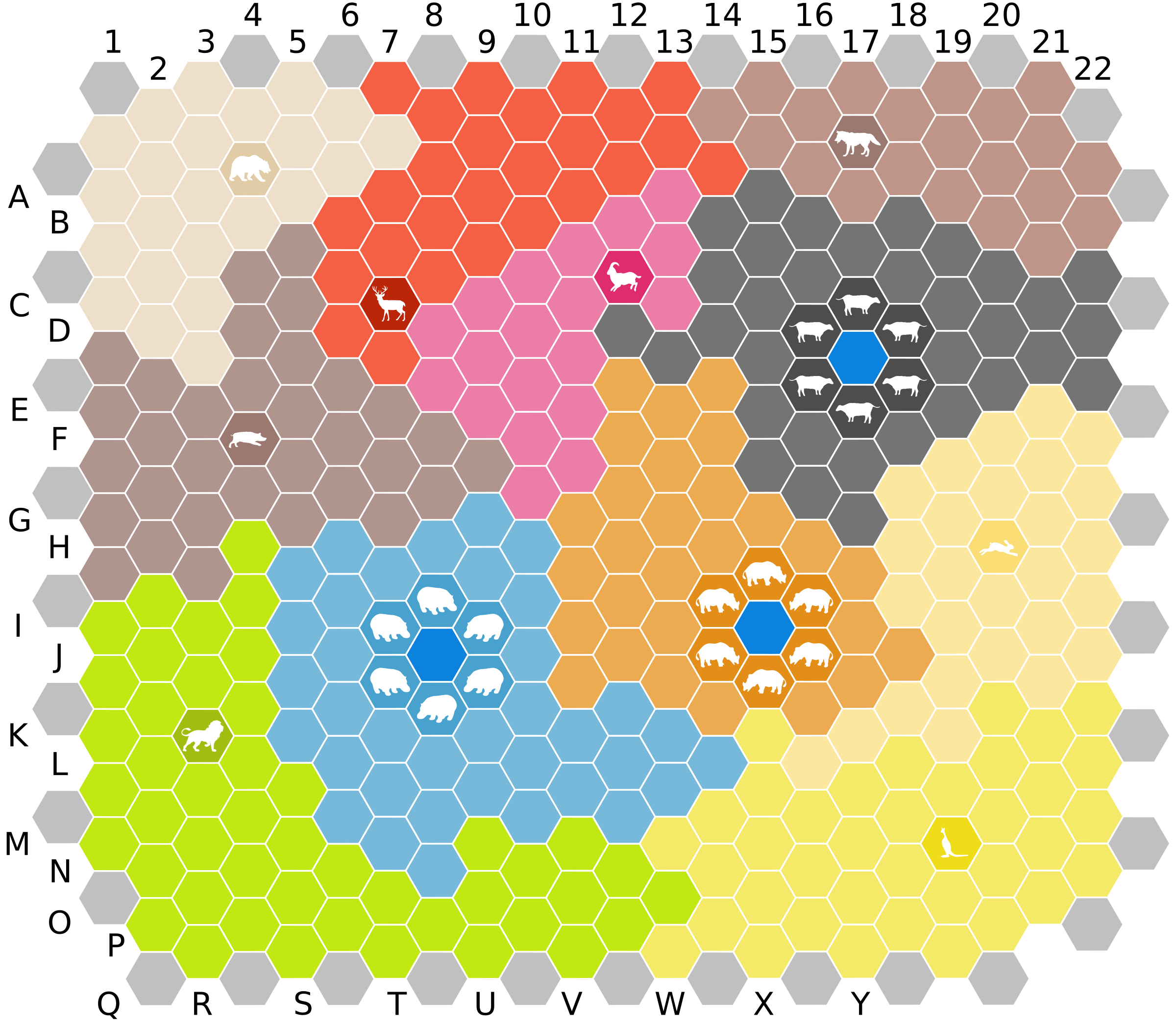 Hex board by Clon