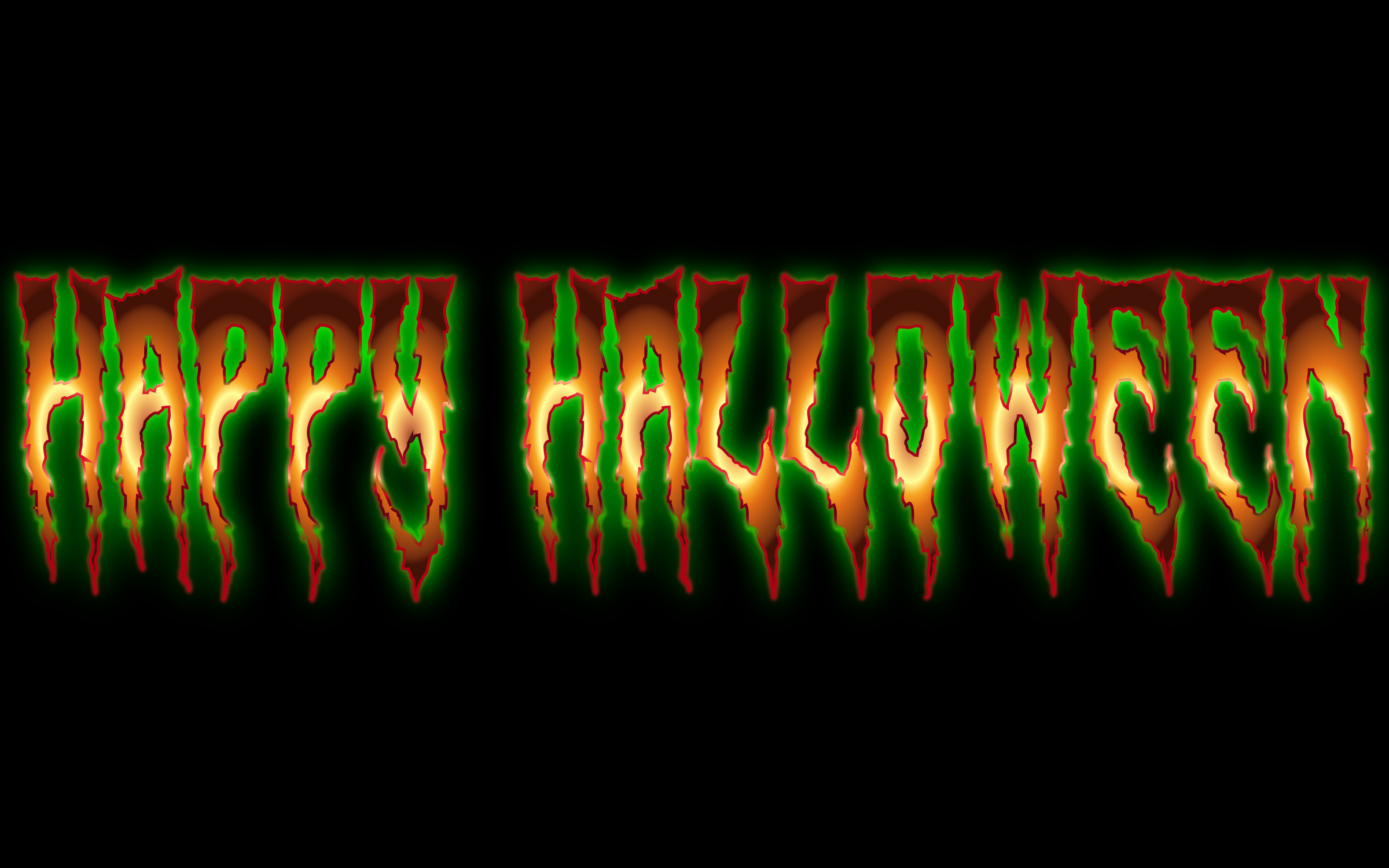 Happy Halloween Typography Enhanced 3 by GDJ