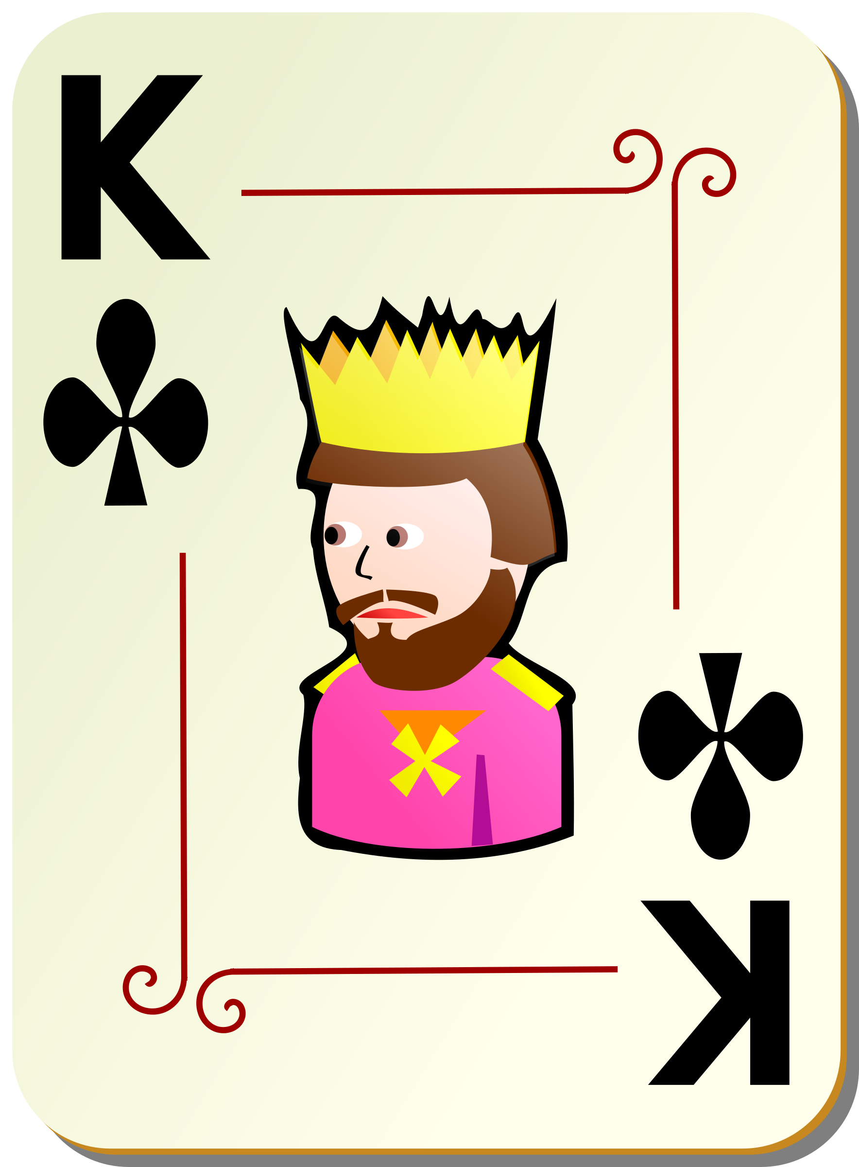 Ornamental deck: King of clubs by nicubunu
