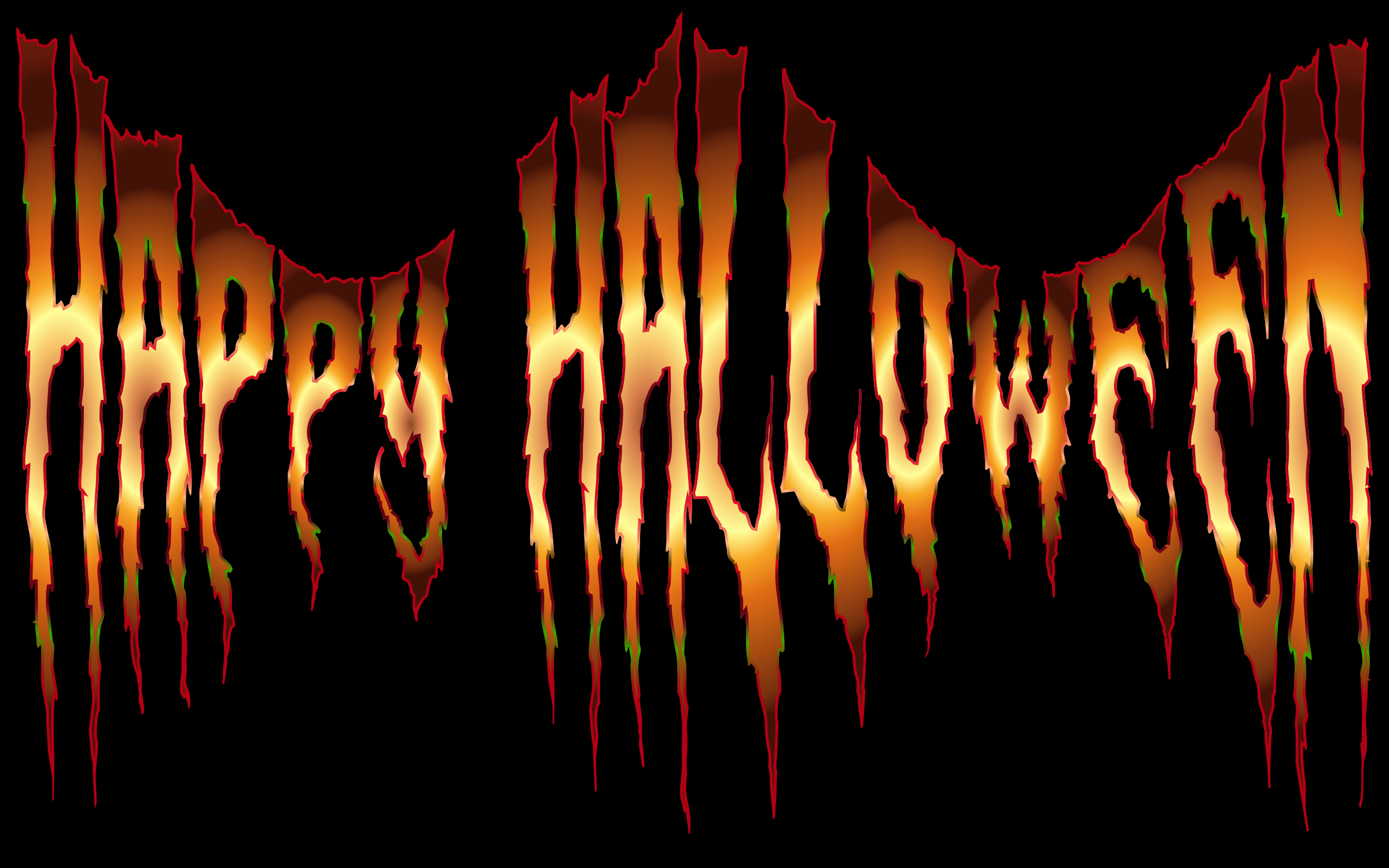 Happy Halloween Typography 2 by GDJ