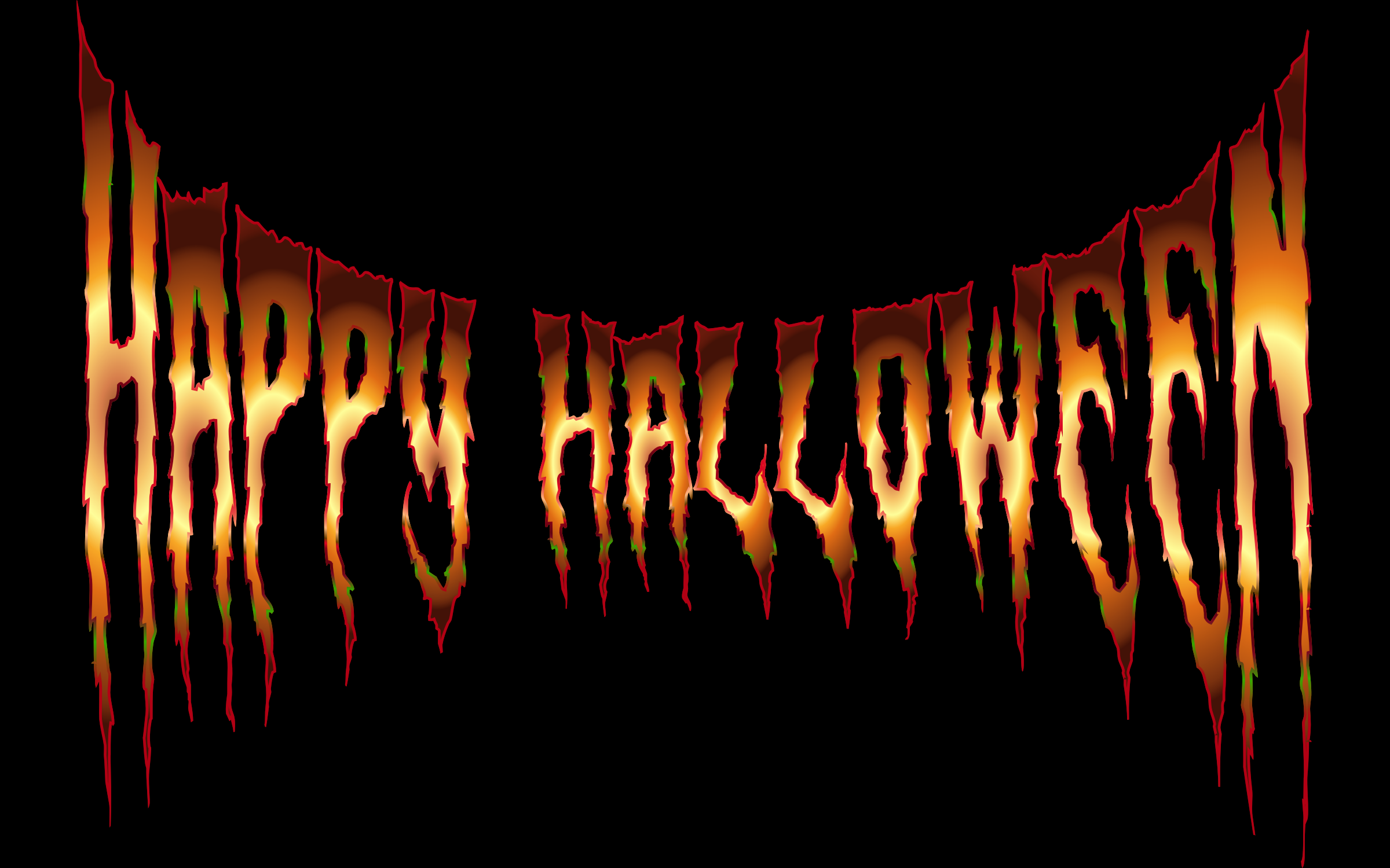 Happy Halloween Typography 5 by GDJ