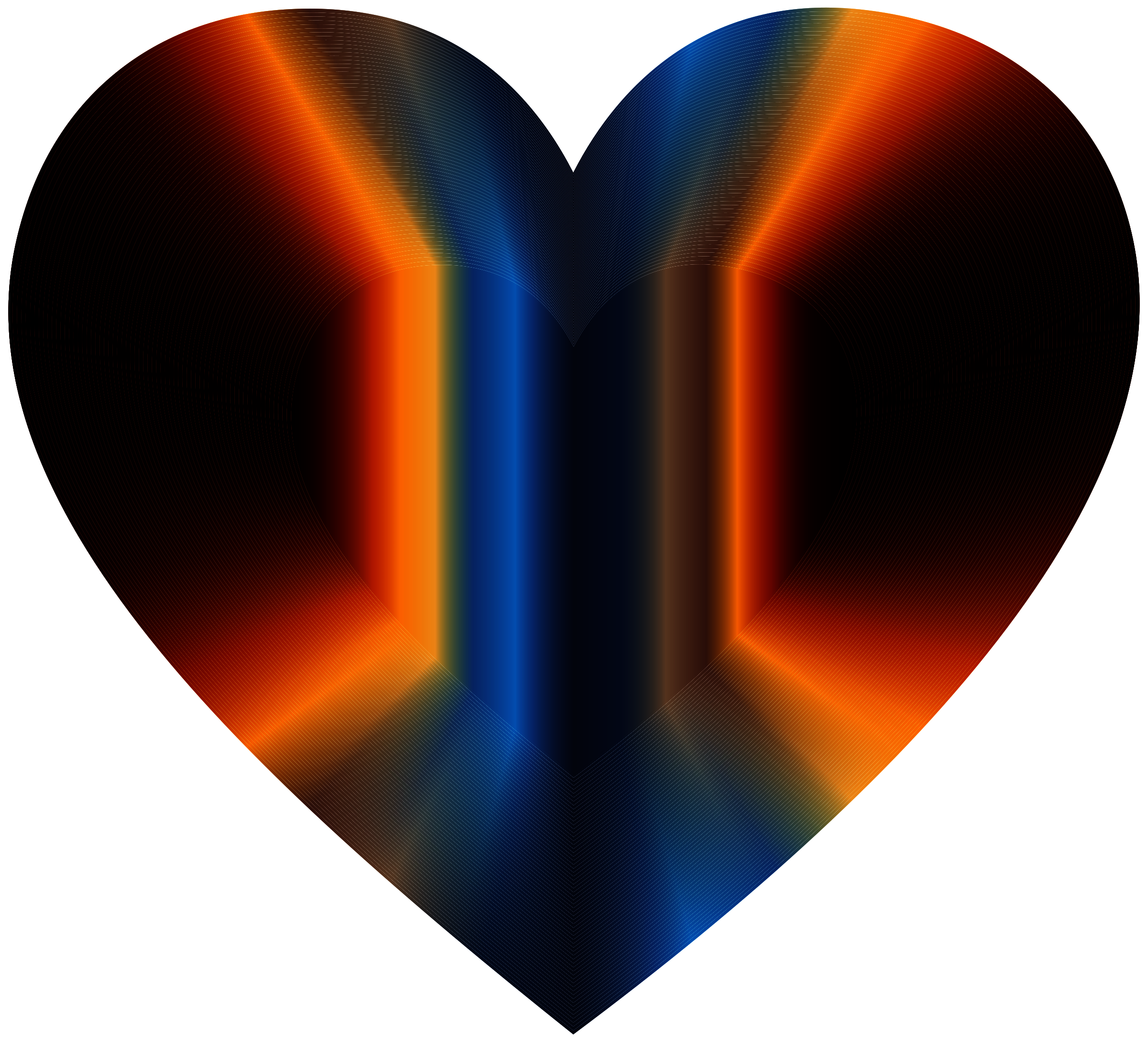 Colorful Refraction Heart Dark by GDJ