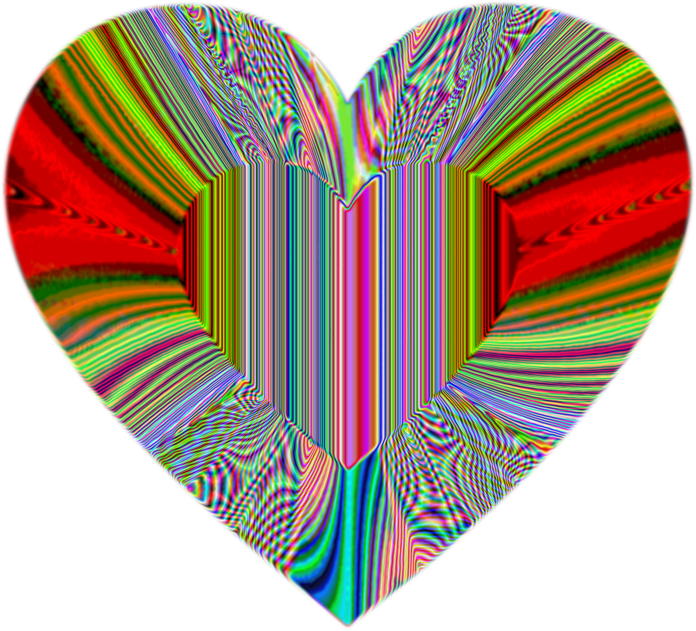 Colorful Refraction Heart Psychedelic by GDJ