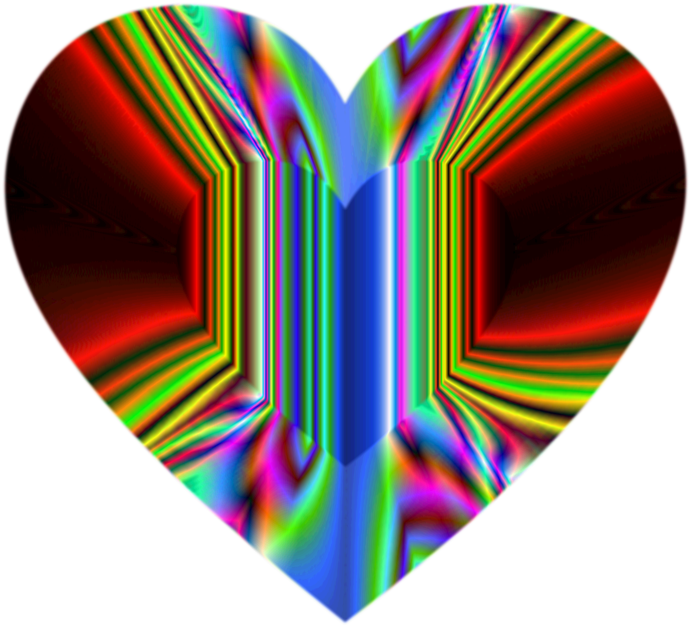 Colorful Refraction Heart Psychedelic 2 by GDJ