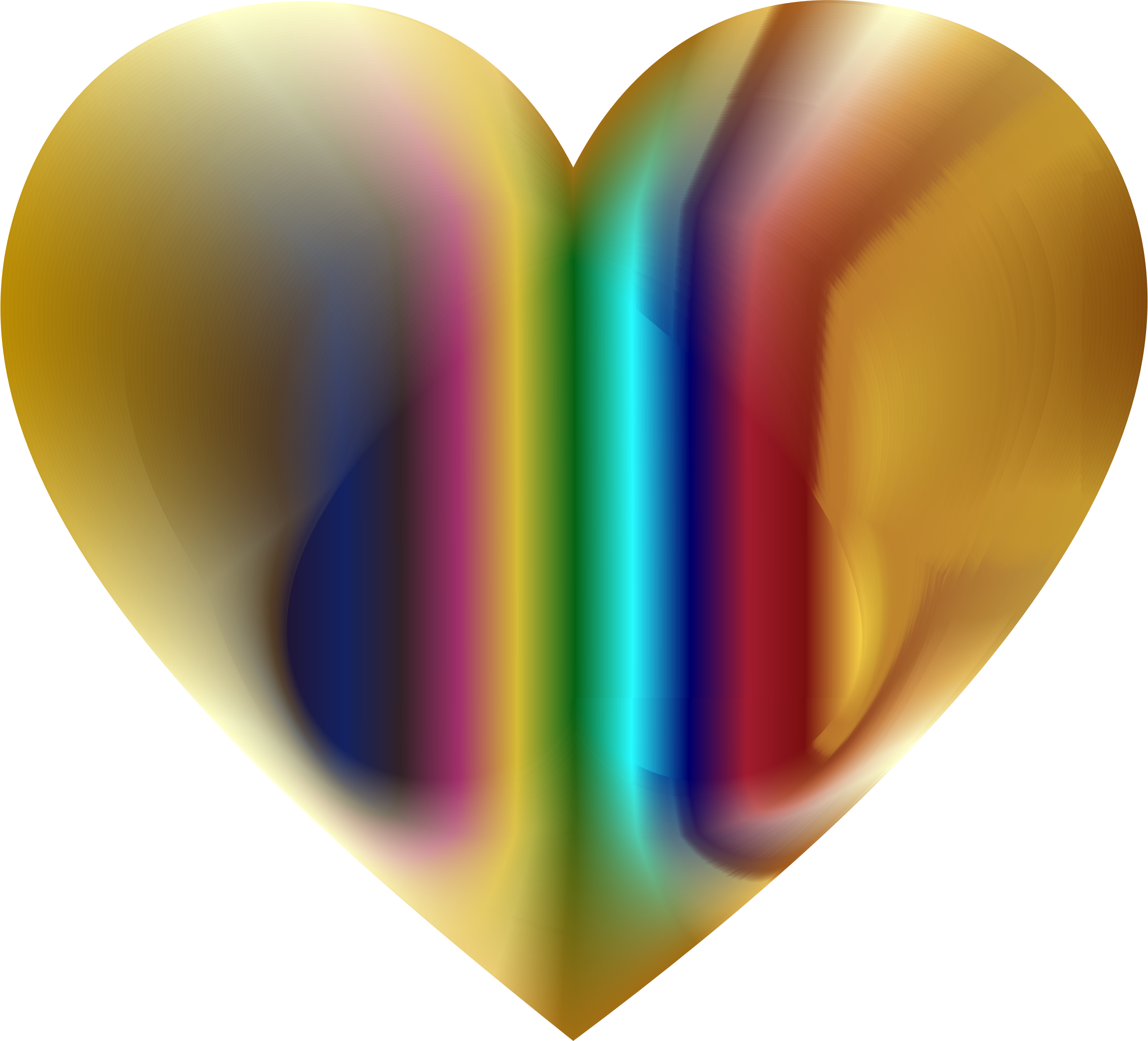 Colorful Refraction Heart 3 by GDJ