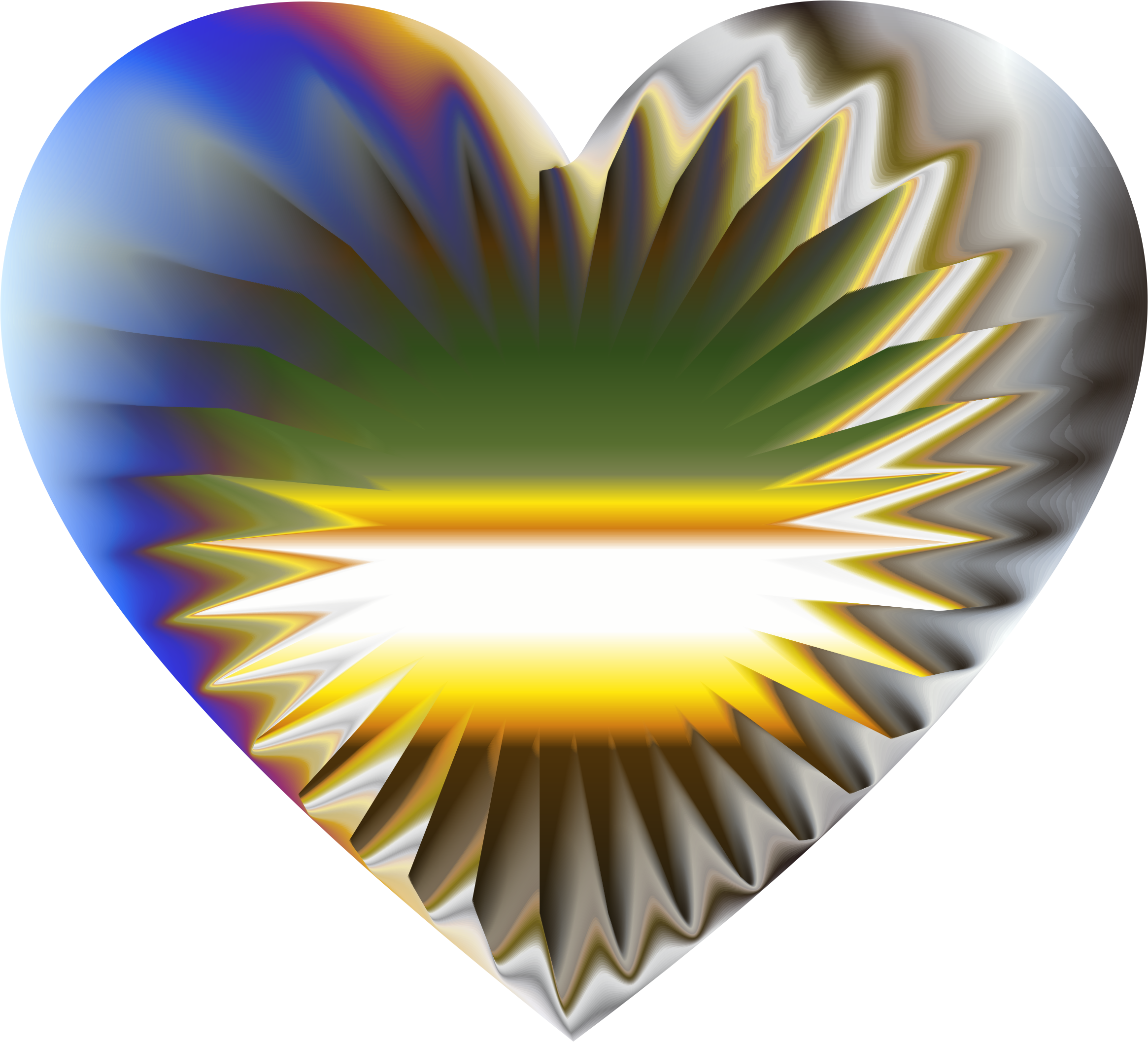 Colorful Refraction Heart 6 by GDJ