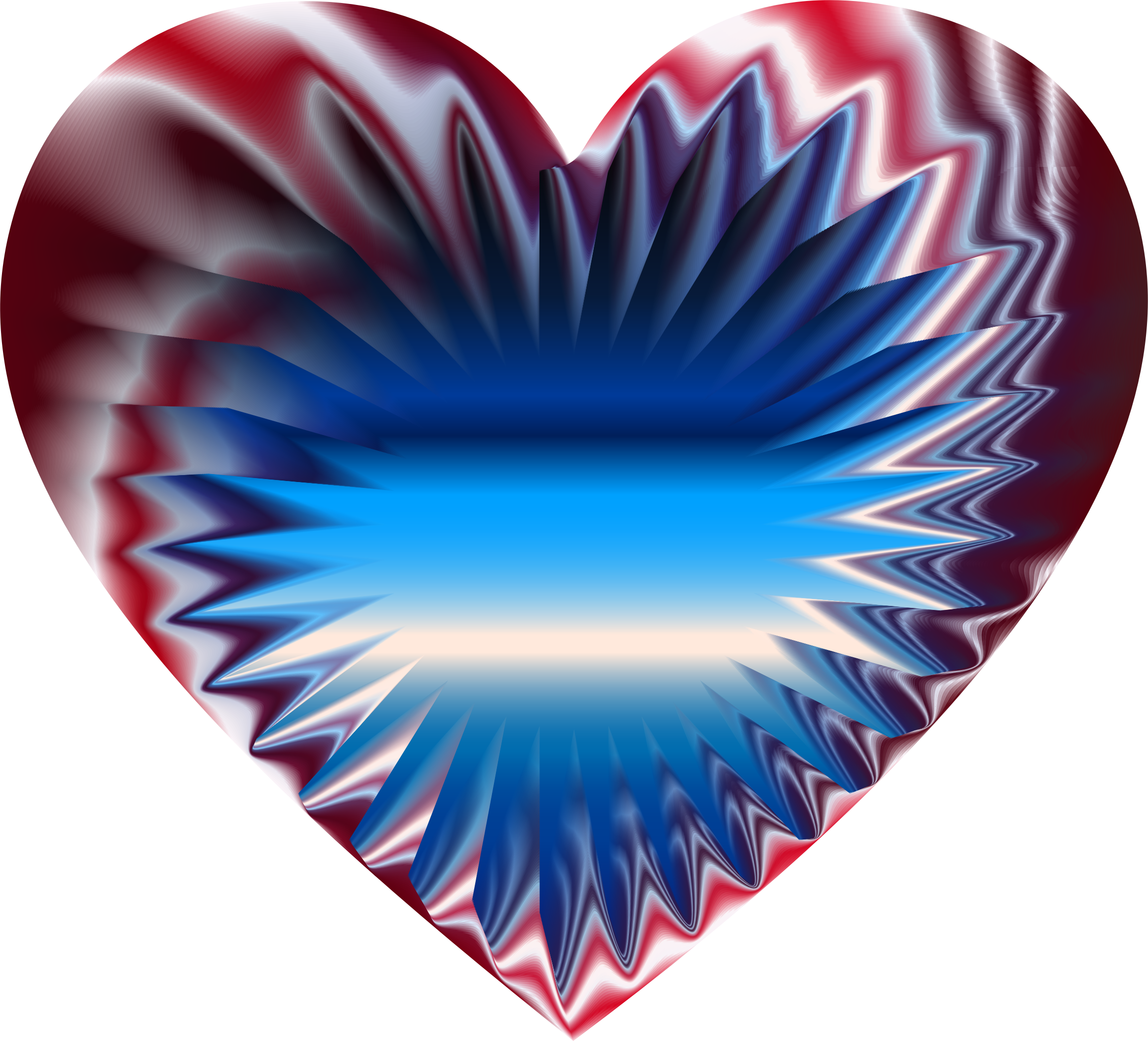 Colorful Refraction Heart 7 by GDJ