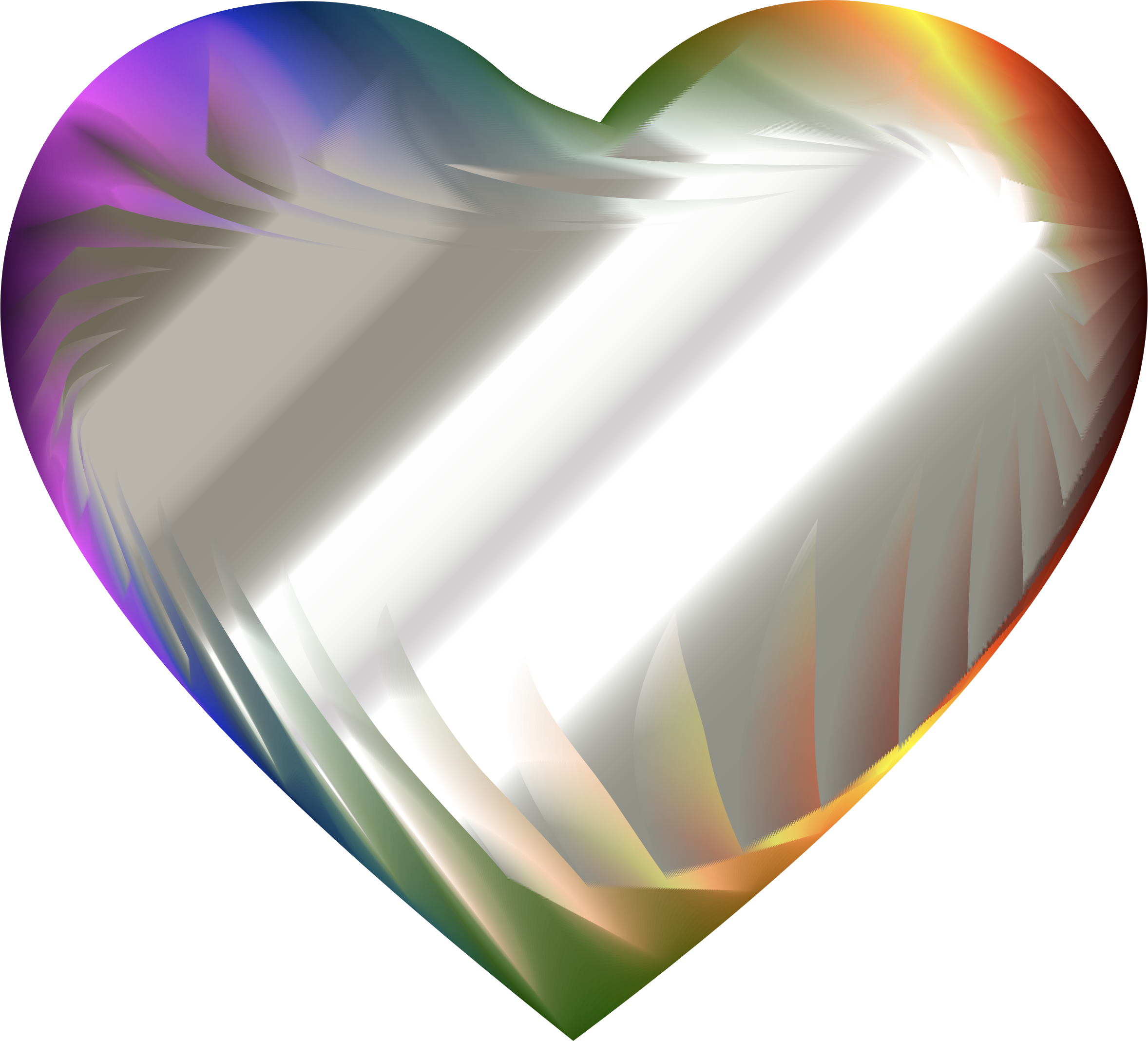Colorful Refraction Heart 8 by GDJ