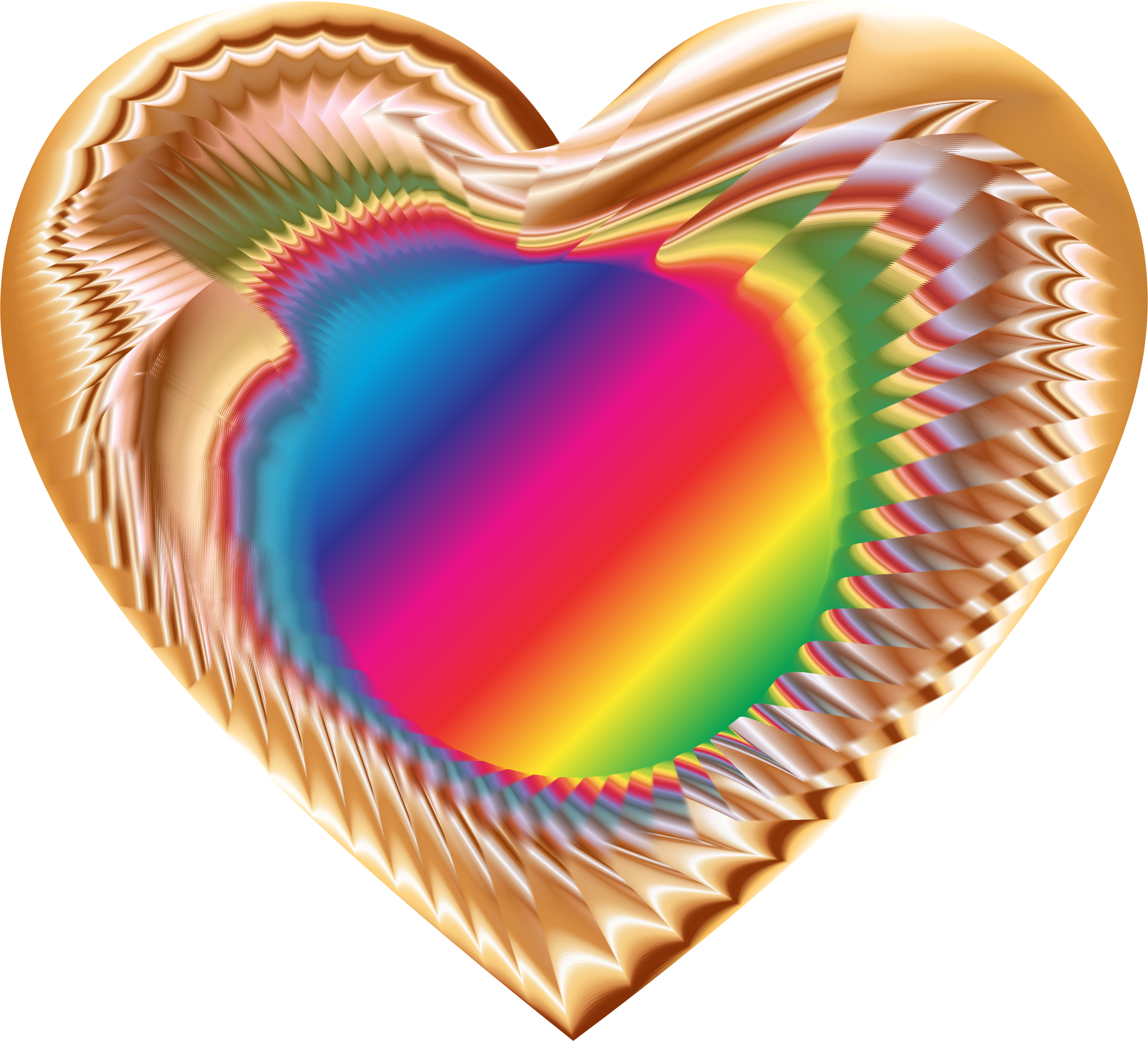 Colorful Refraction Heart 10 by GDJ