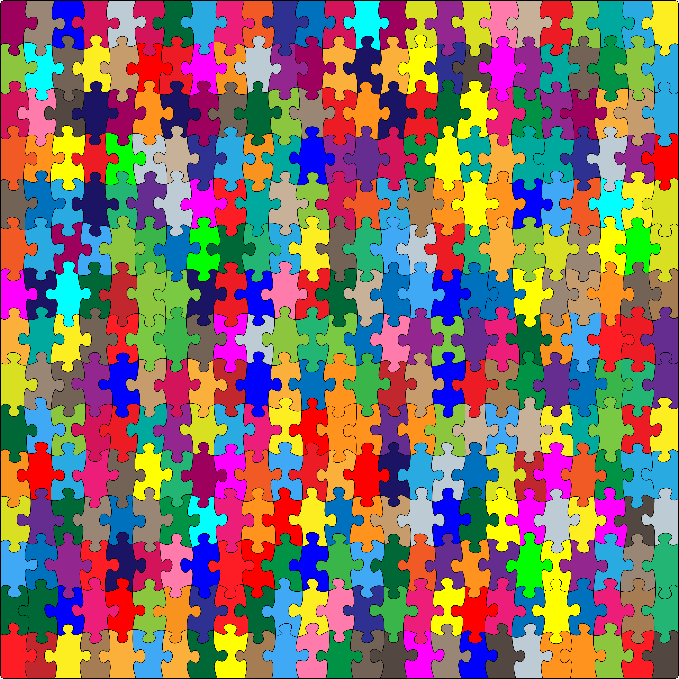 Multicolored Jigsaw Puzzle Pieces by GDJ