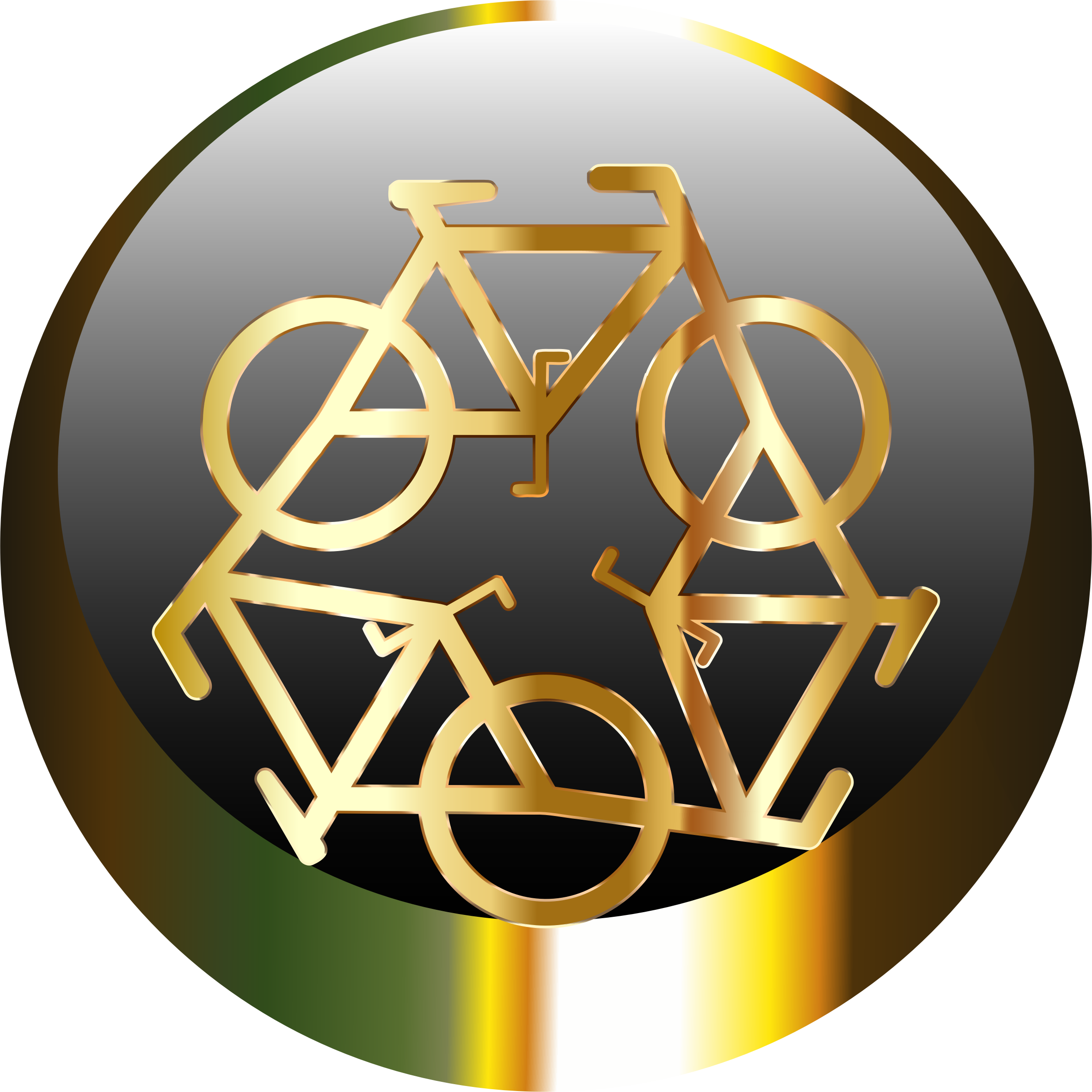 Golden Recycle Icon by GDJ
