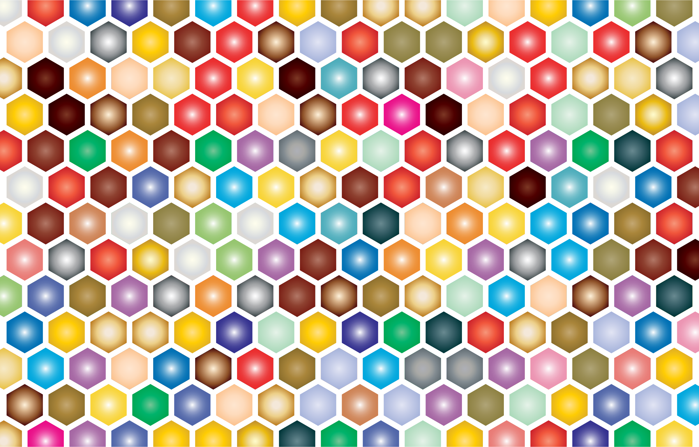 Colorful Hex Grid Pattern by GDJ