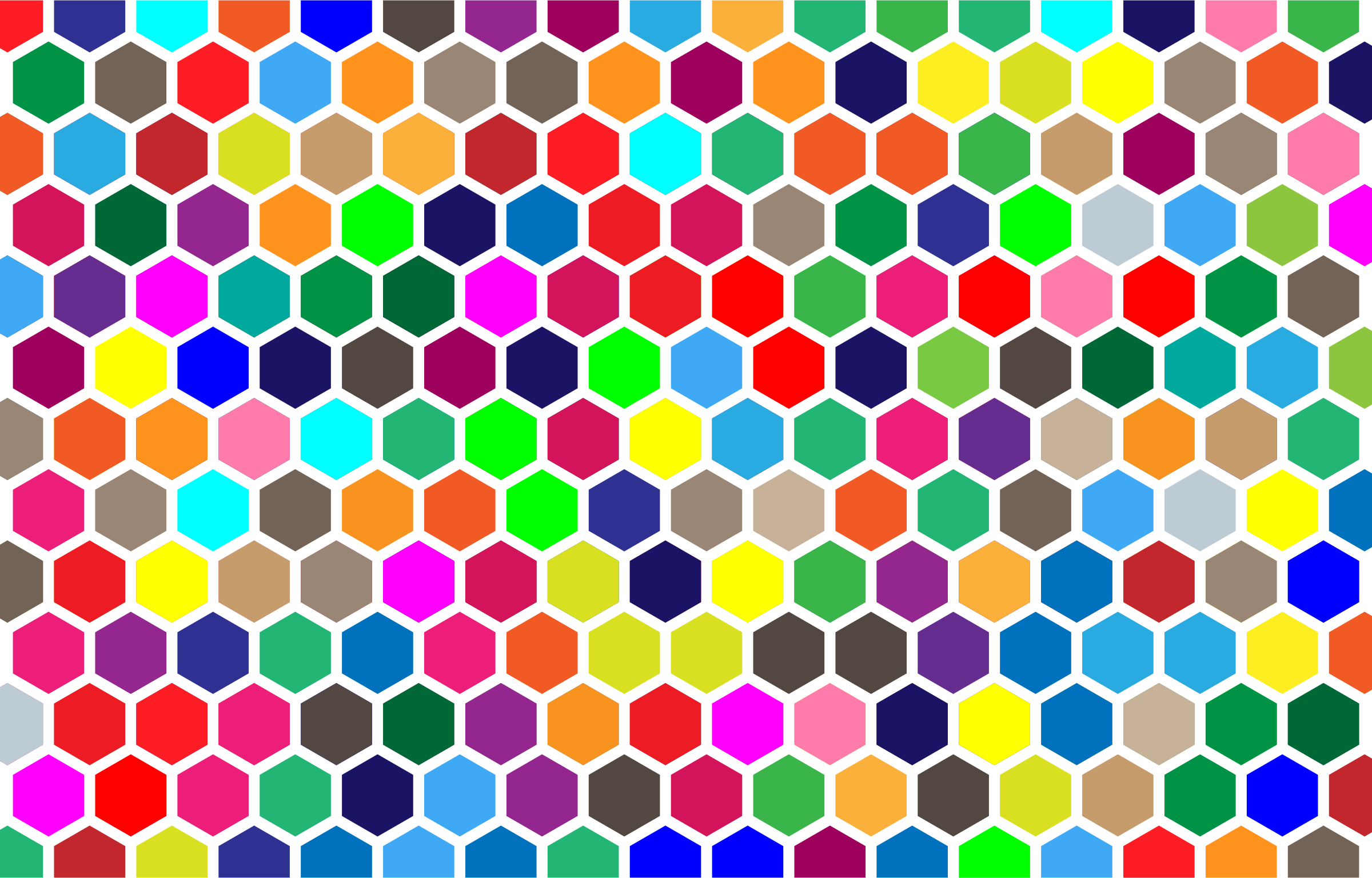 Colorful Hex Grid Pattern 2 by GDJ