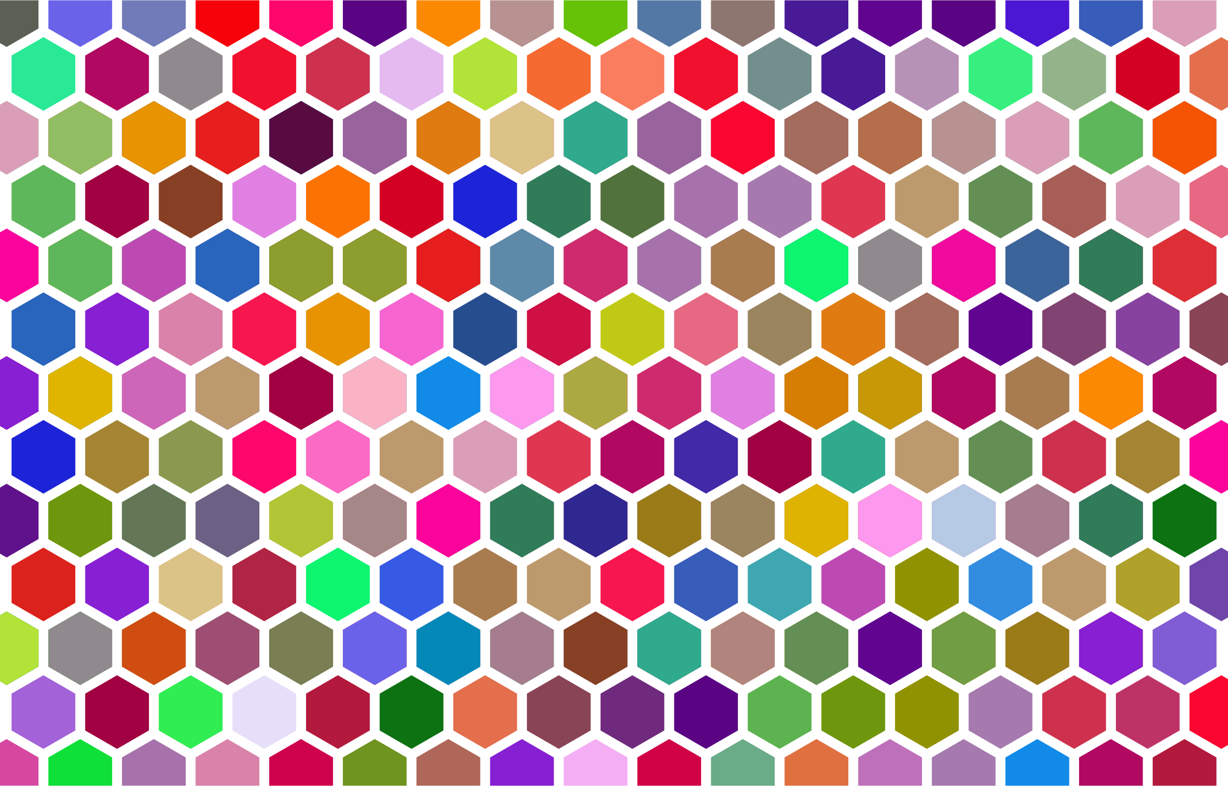 Colorful Hex Grid Pattern 3 by GDJ