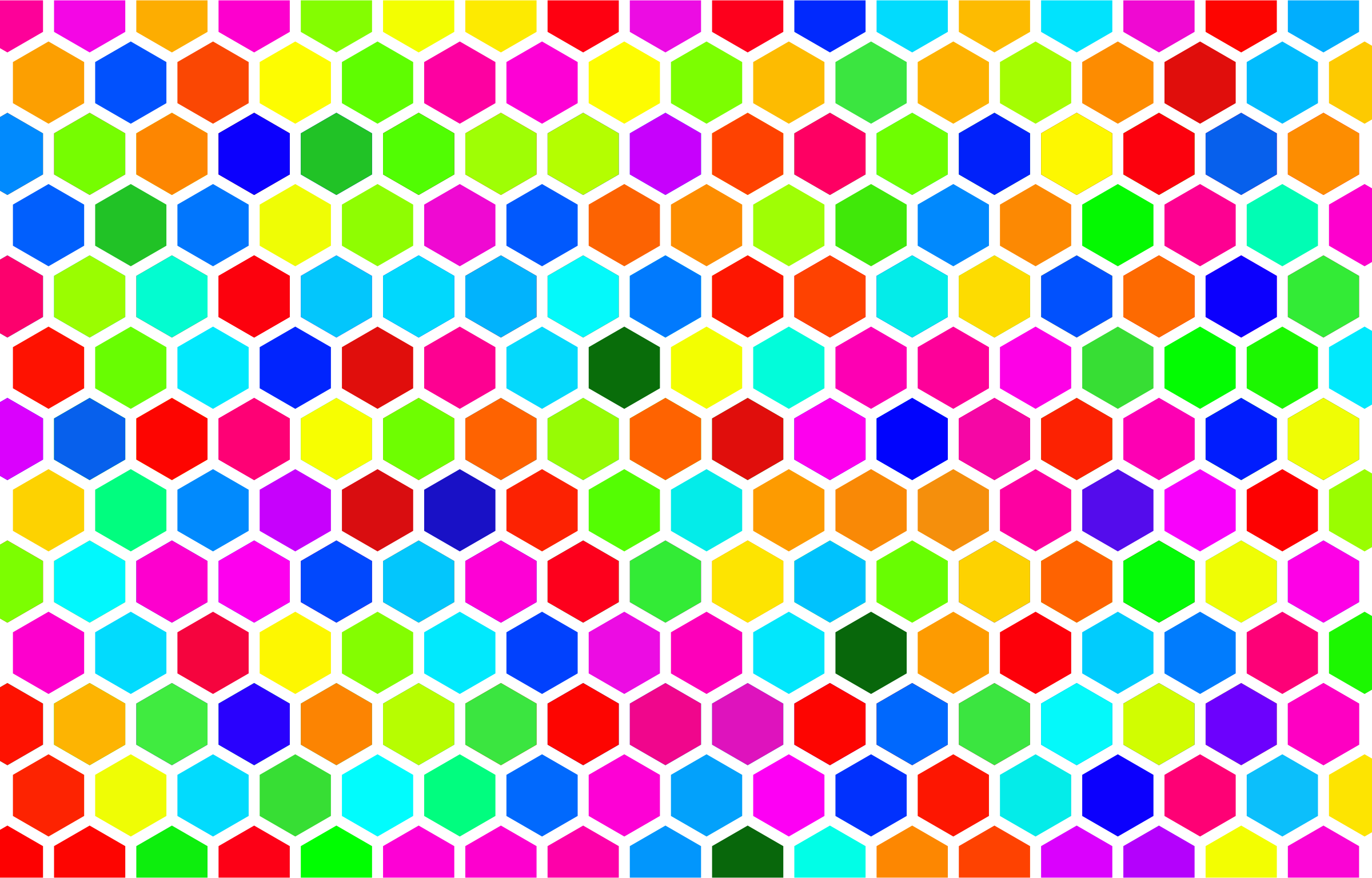 Colorful Hex Grid Pattern 4 by GDJ