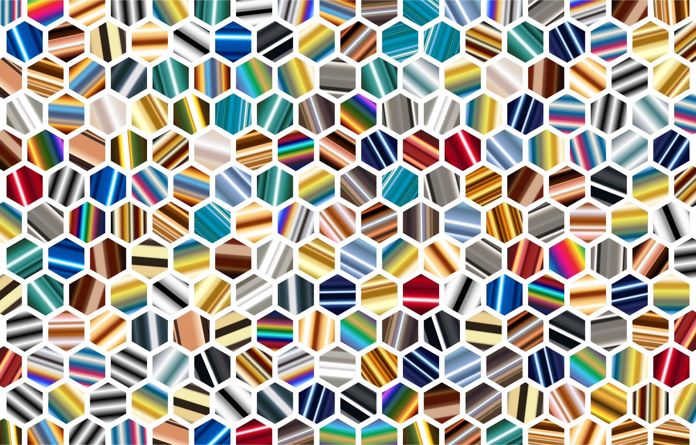 Psychedelic Hex Grid Pattern by GDJ
