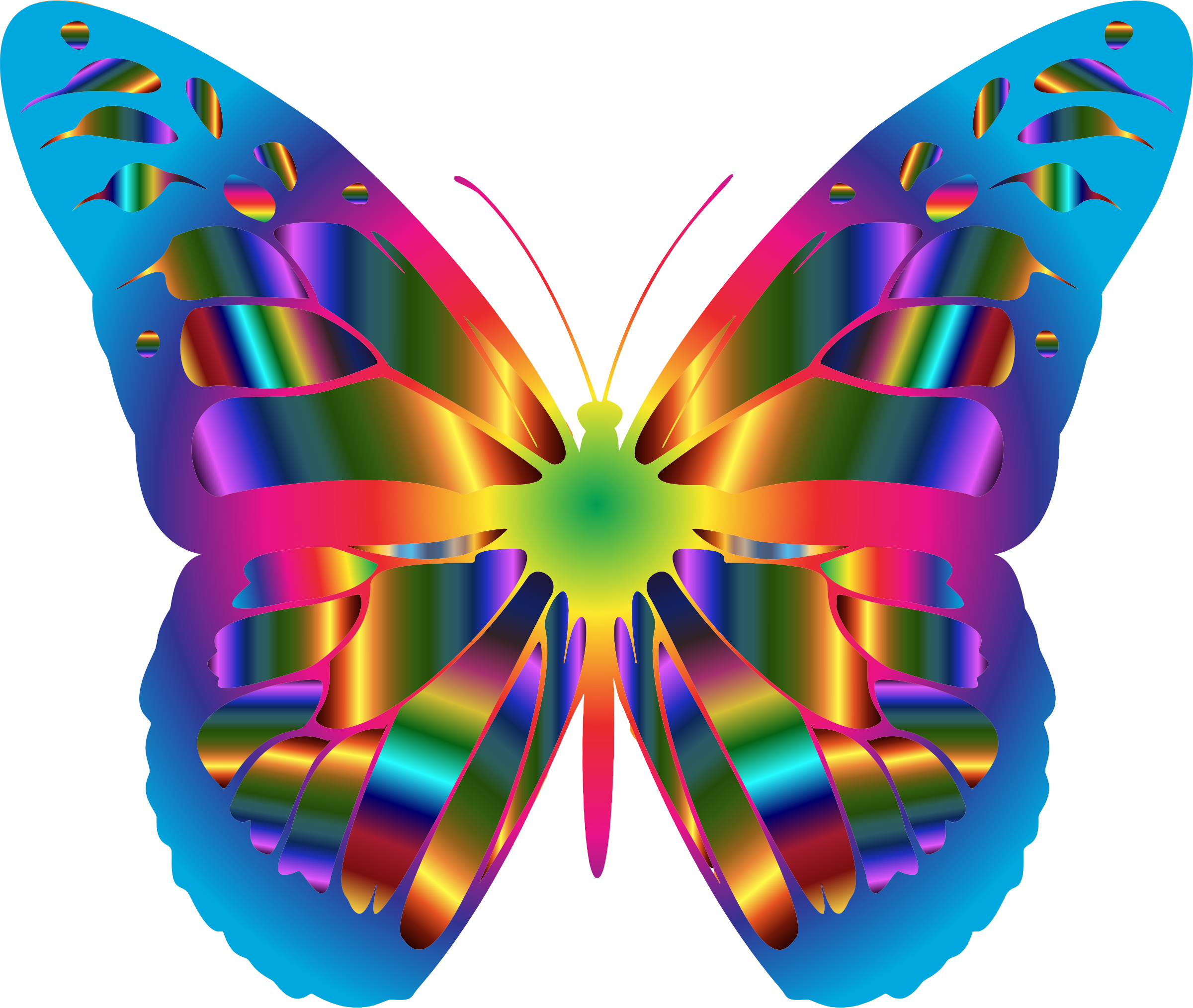 Clipart - Iridescent Monarch Butterfly 18