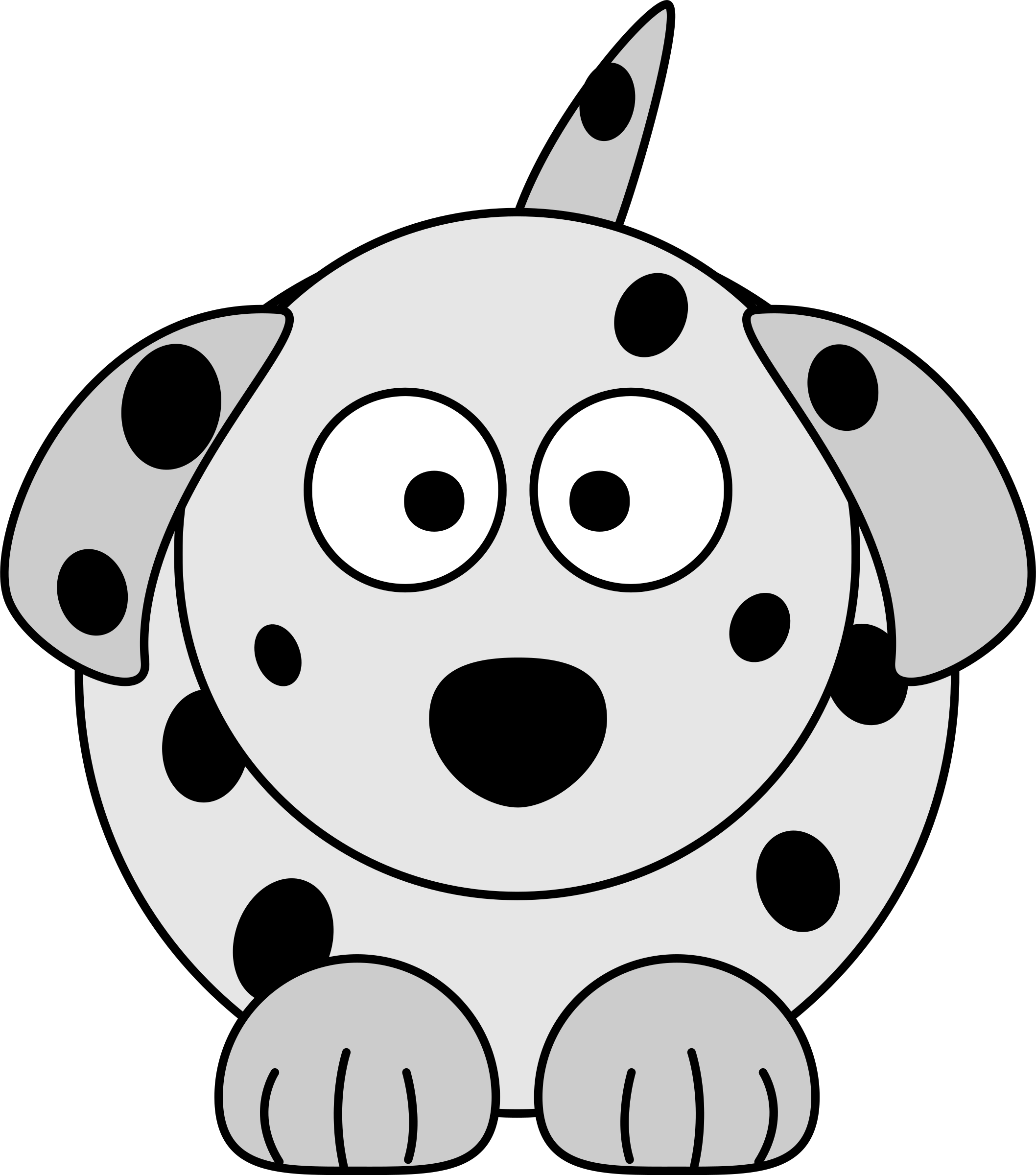 Dalmatian Cartoon Dog by aztlek