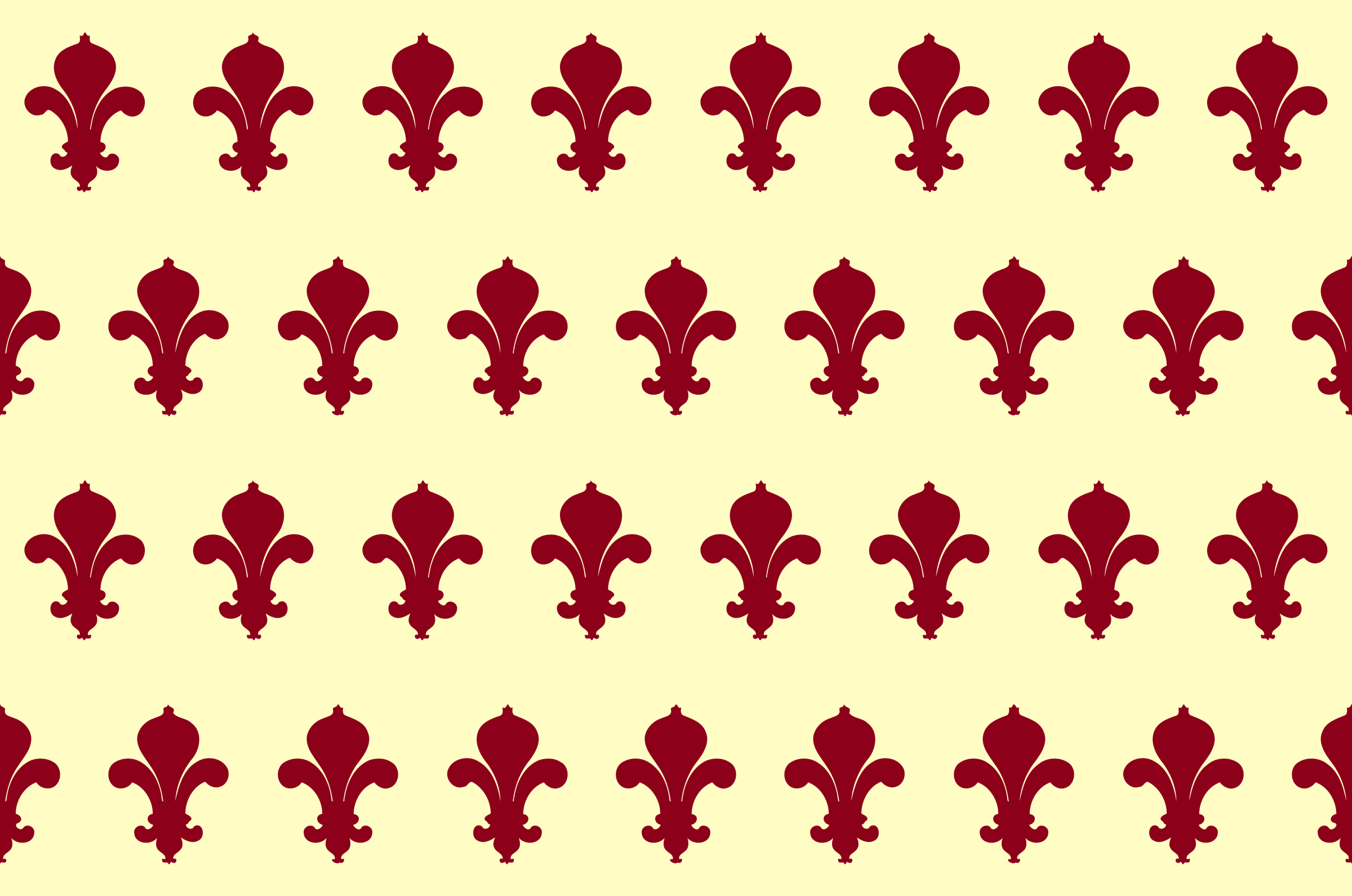 Fleurs de lys pattern (colour 2) by Firkin