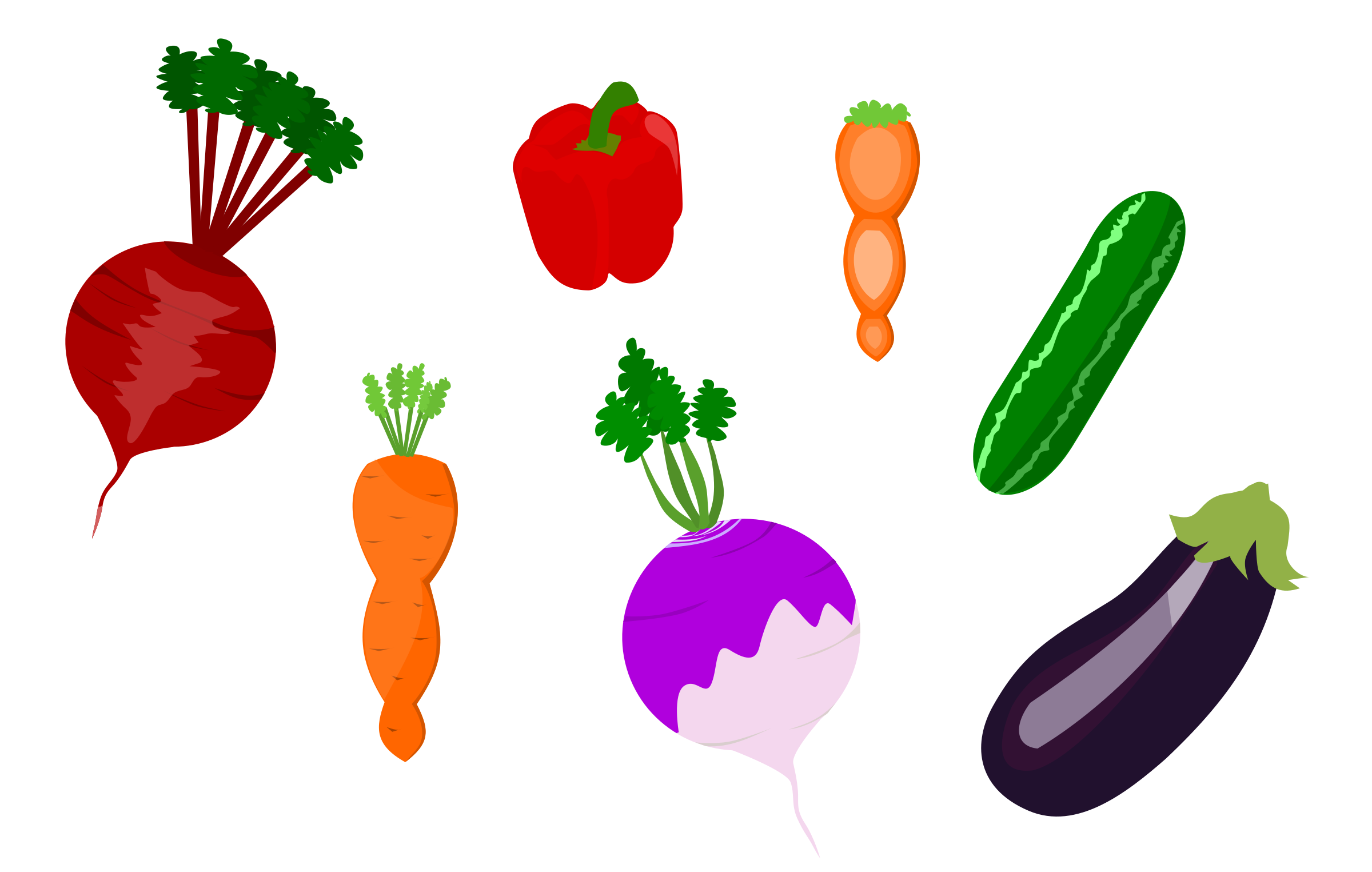 Vector Vegetables by DevoniqueScolley