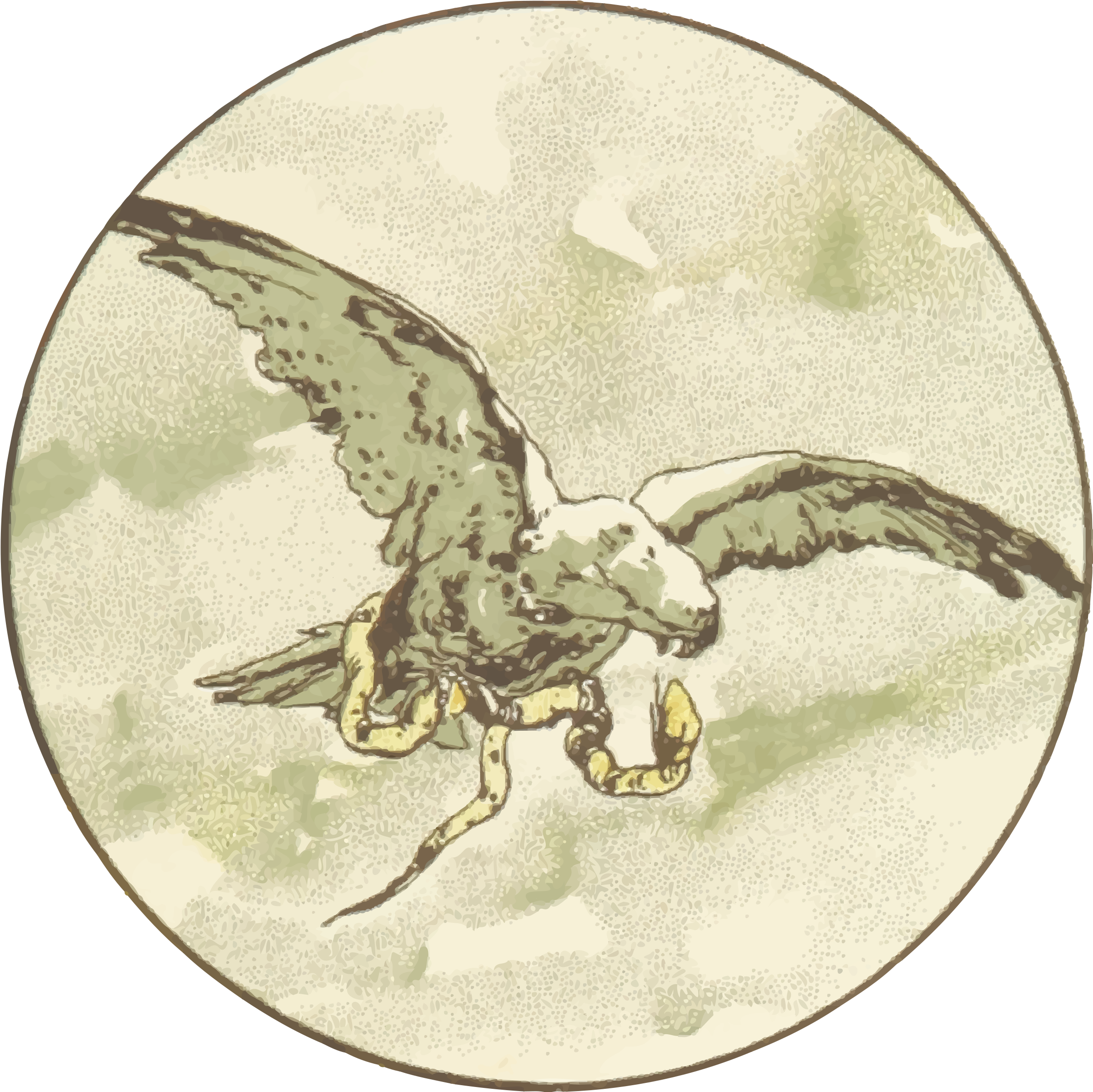Eagle and snake by Firkin