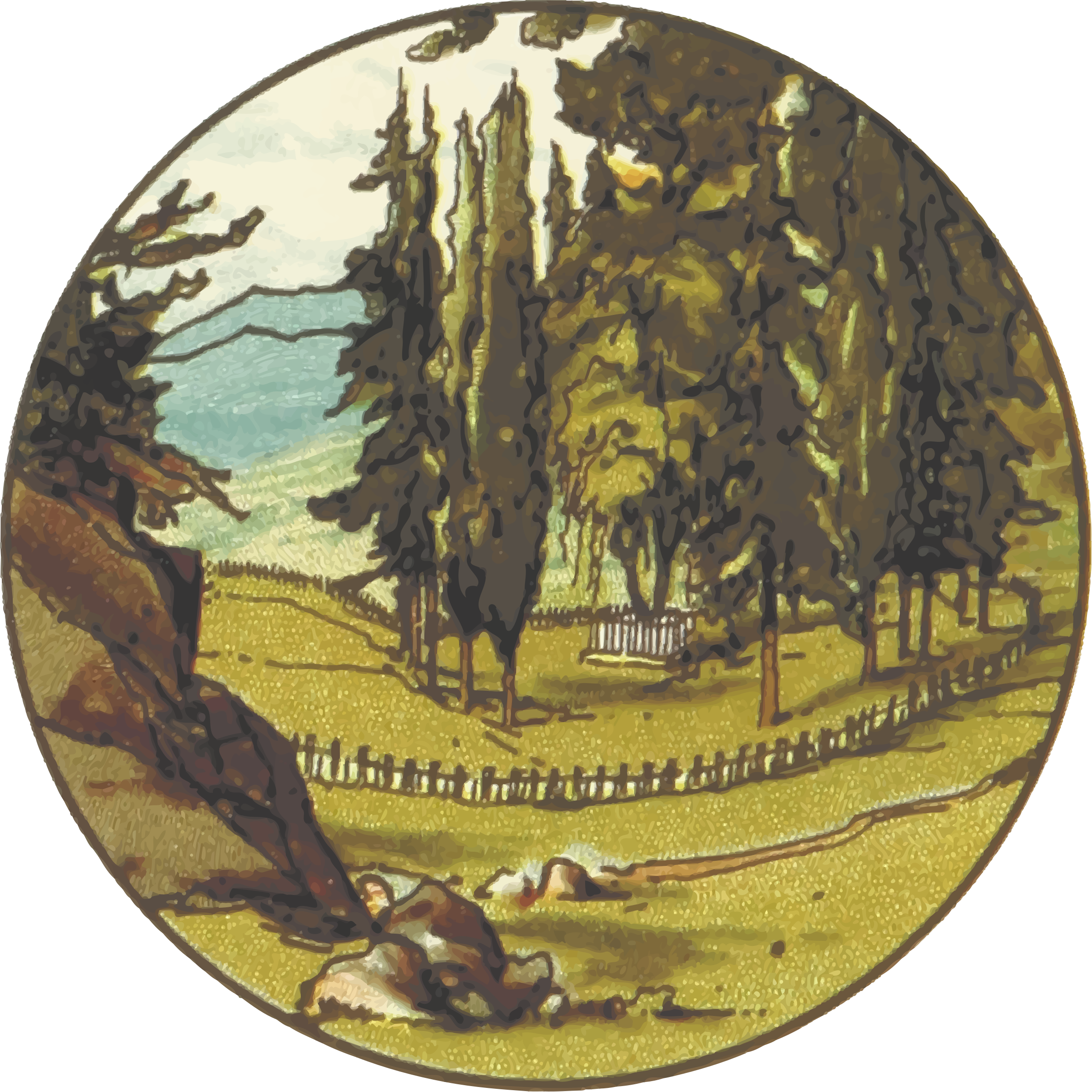 Country scene by Firkin