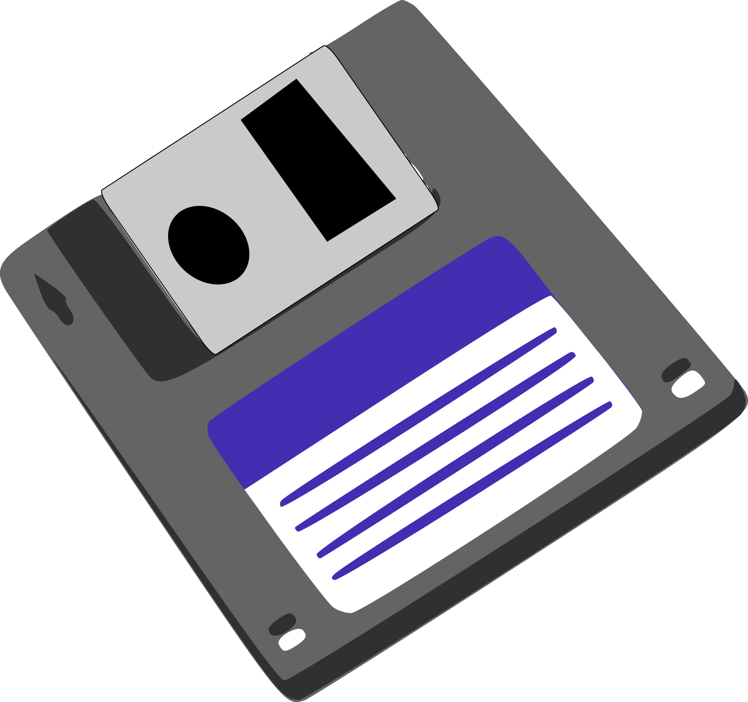 floppy diskette by Machovka