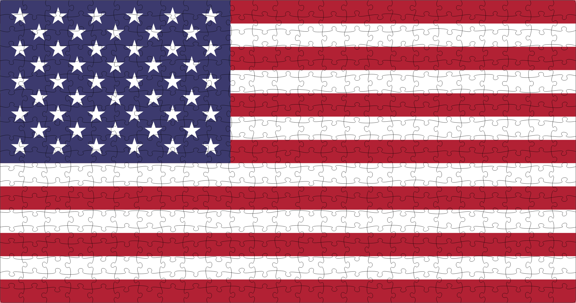 United States Flag Jigsaw Puzzle 25x20 by GDJ