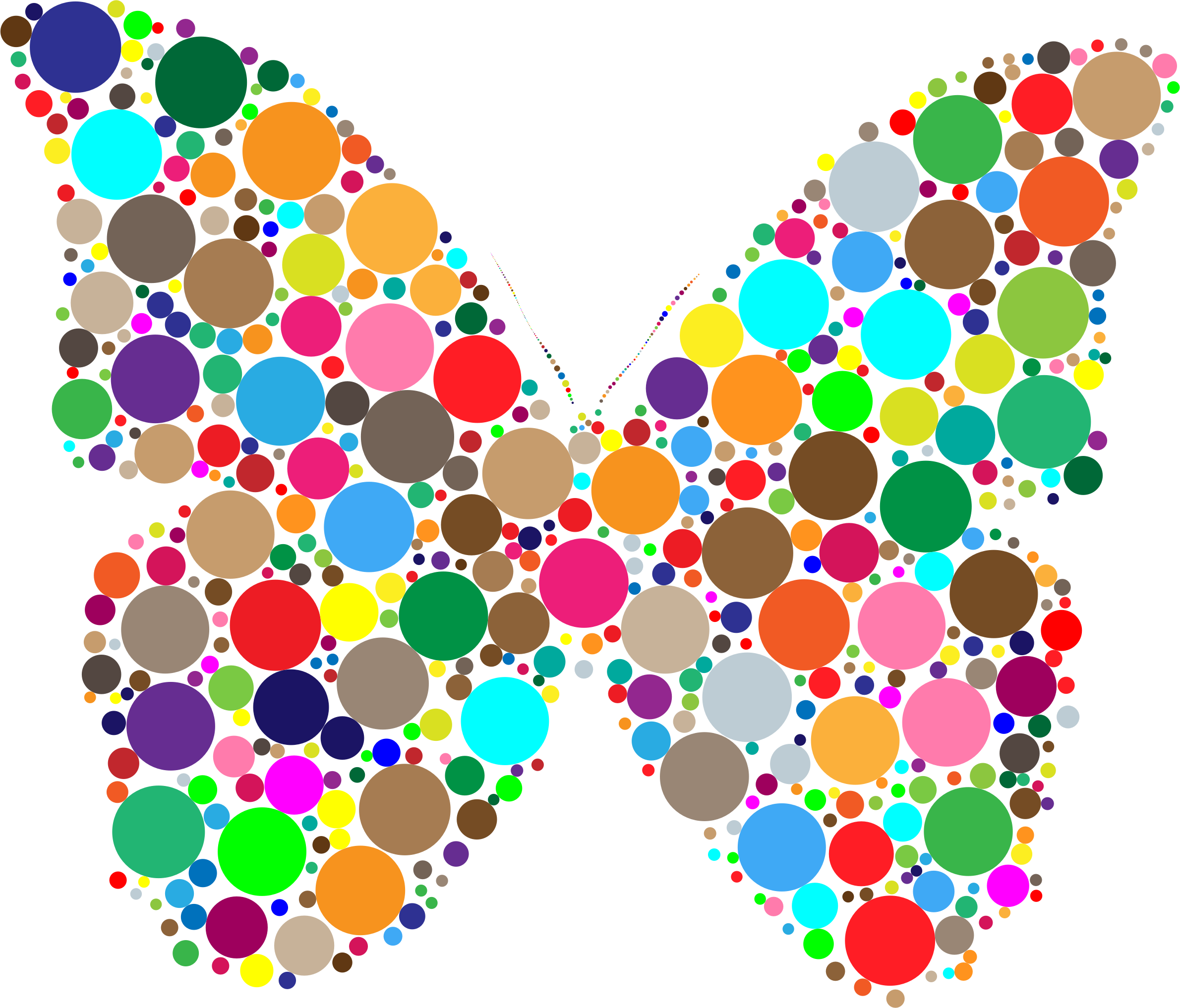 Colorful Circles Butterfly by GDJ