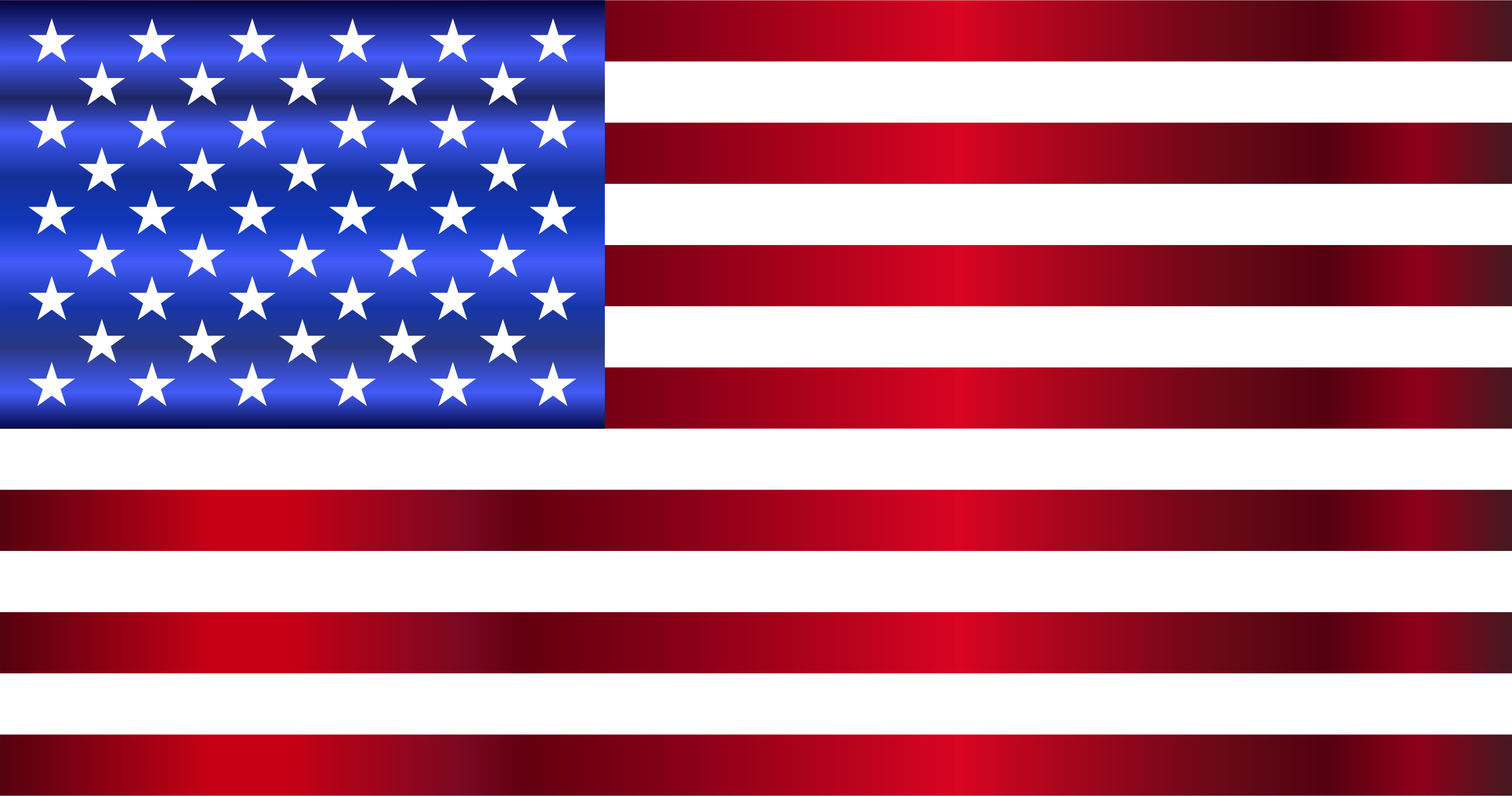 American Flag Enhanced by GDJ