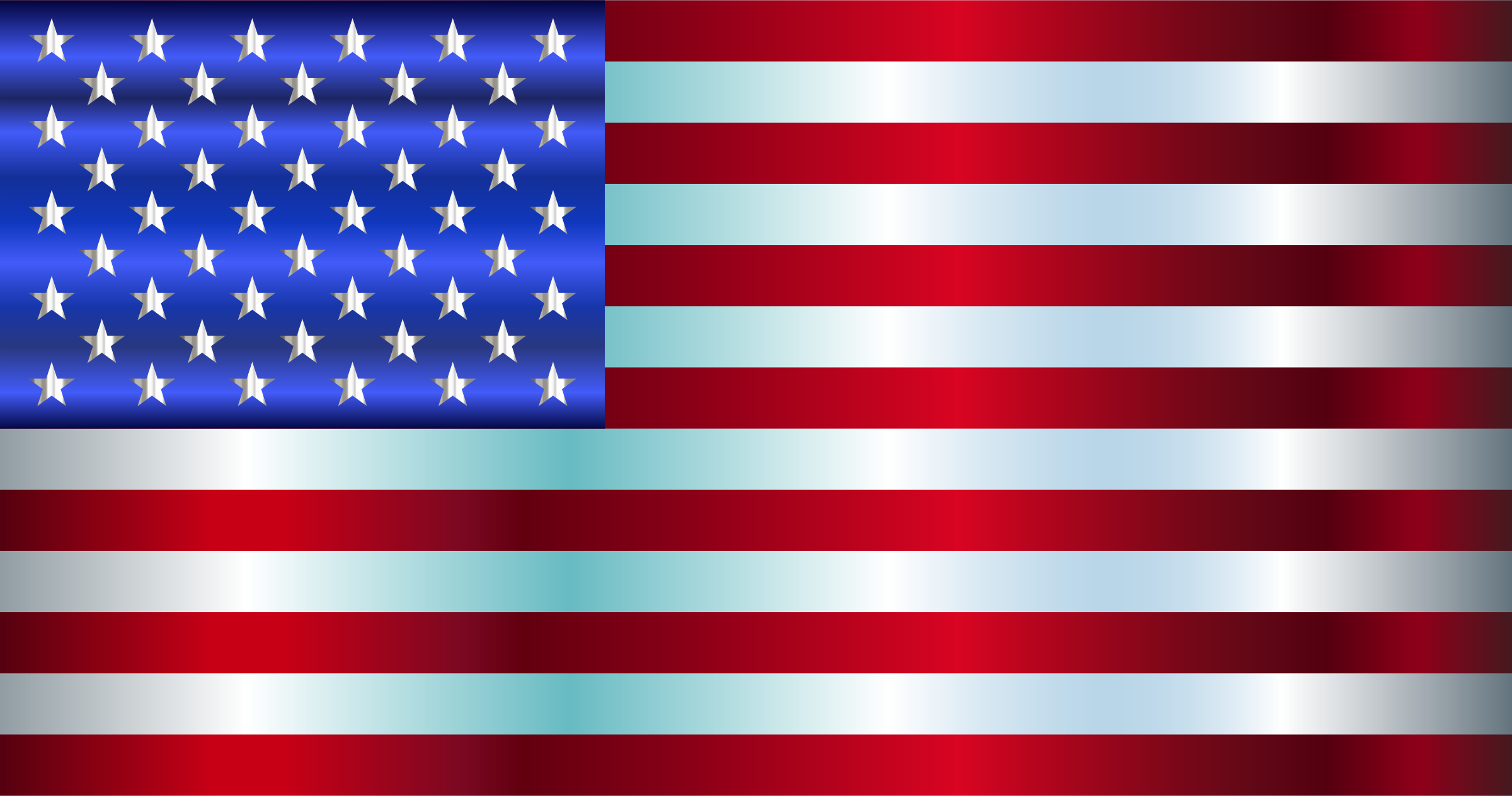 American Flag Enhanced 2 by GDJ