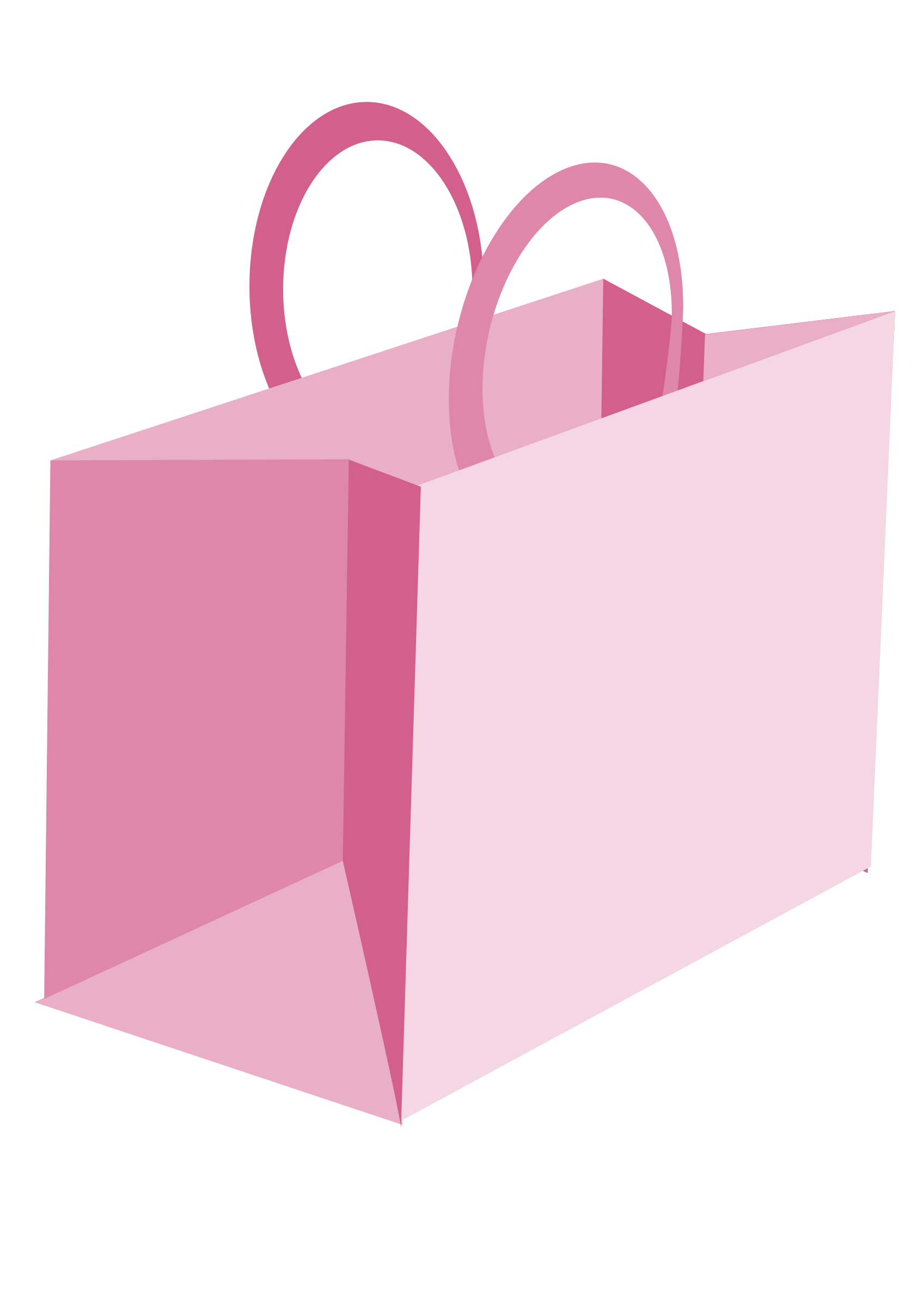 clipart pink shopping bag