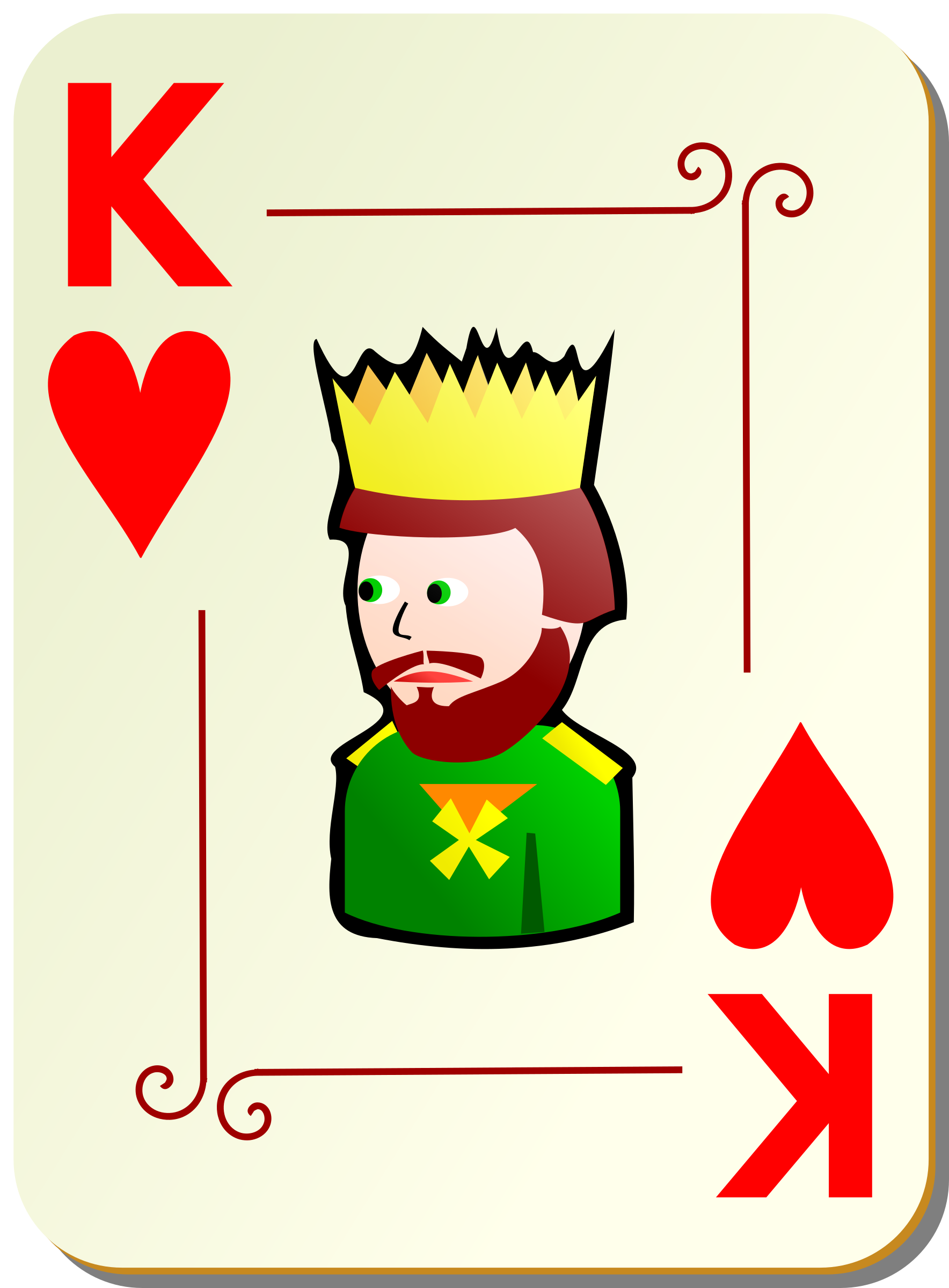 Ornamental deck: King of hearts by nicubunu