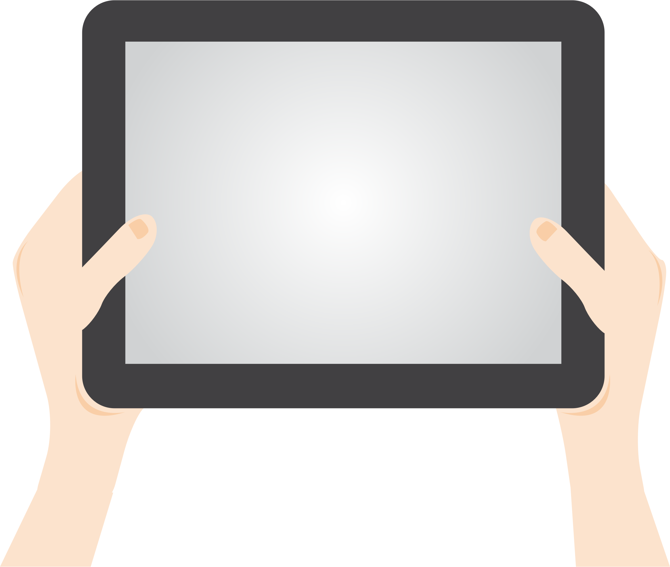 Person Holding Tablet by GDJ